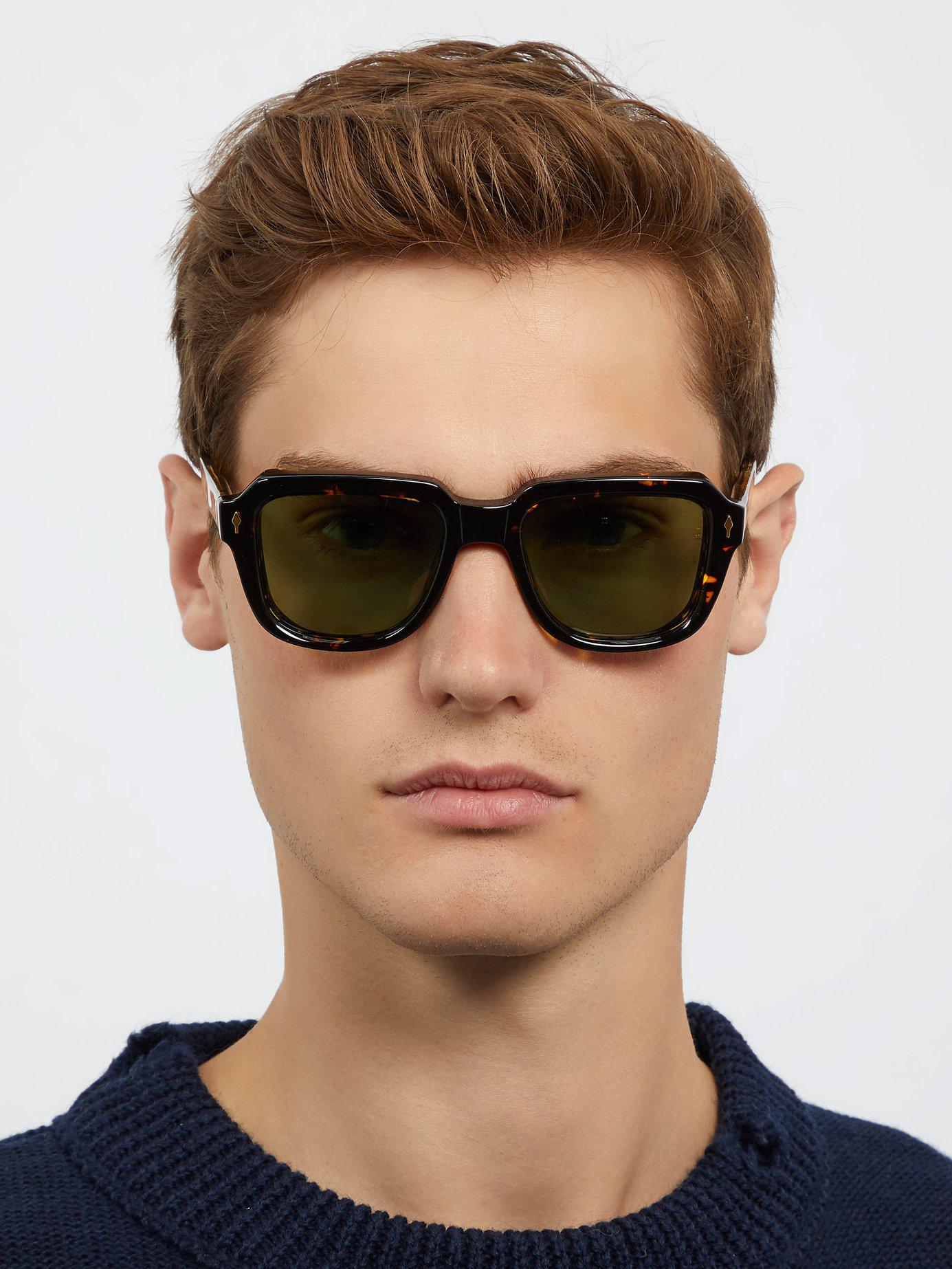 1c3f10f79a Lyst - Jacques Marie Mage Taos Rectangular Frame Acetate Sunglasses ...
