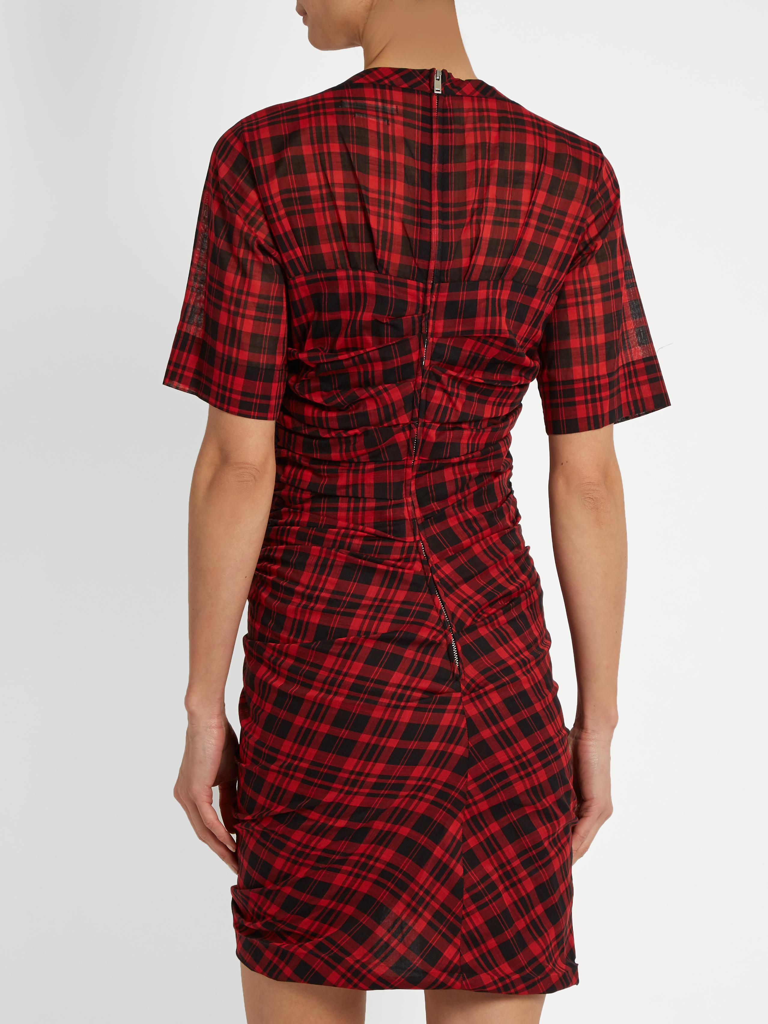 Order Footlocker Cheap Price Étoile Isabel Marant Plaid Mini Dress Manchester Great Sale xJKb4Aj4