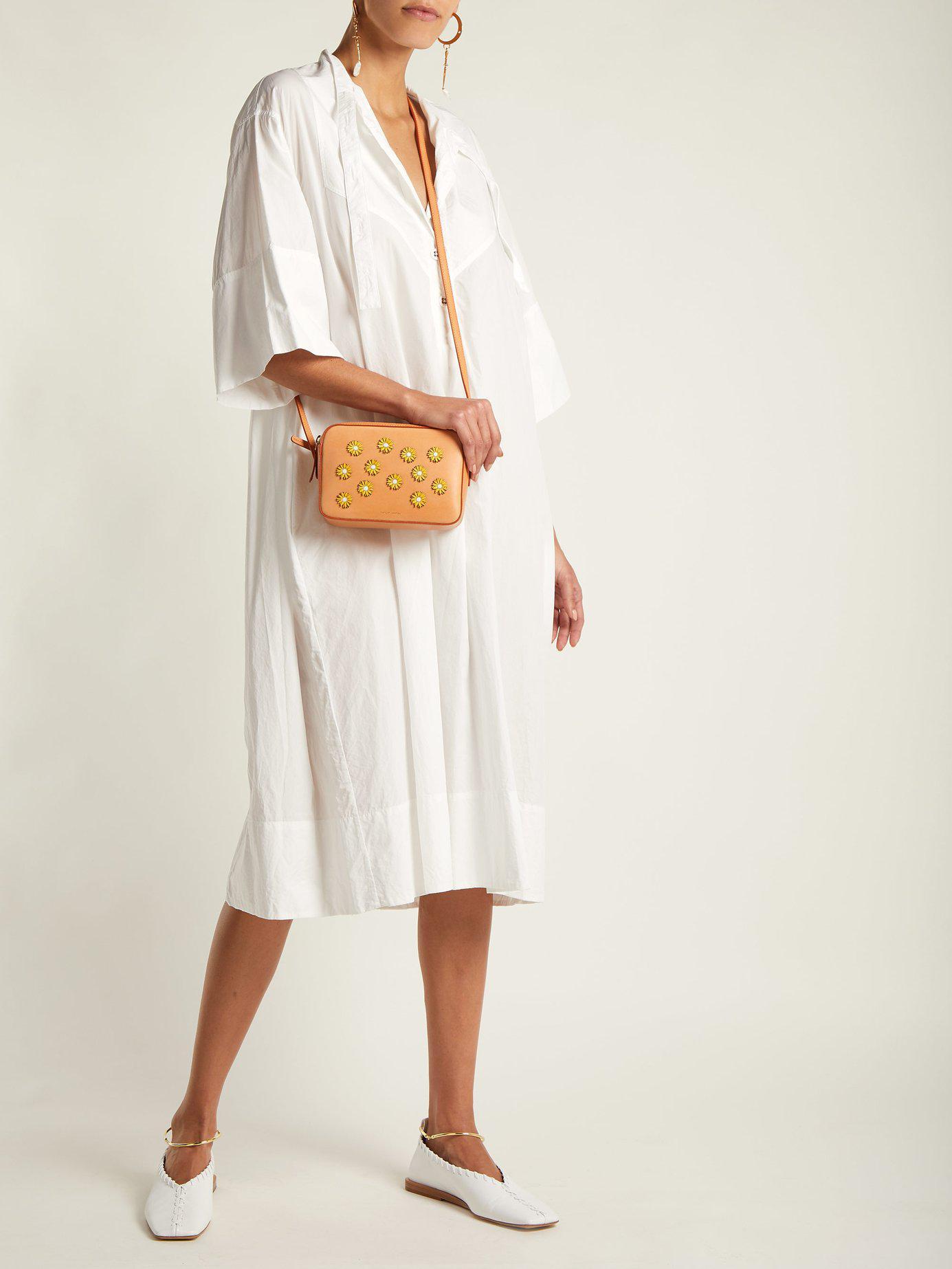 Mansur Gavriel - Multicolor Cammello Floral Embellished Leather Cross Body  Bag - Lyst. View fullscreen 48698f12c59c0