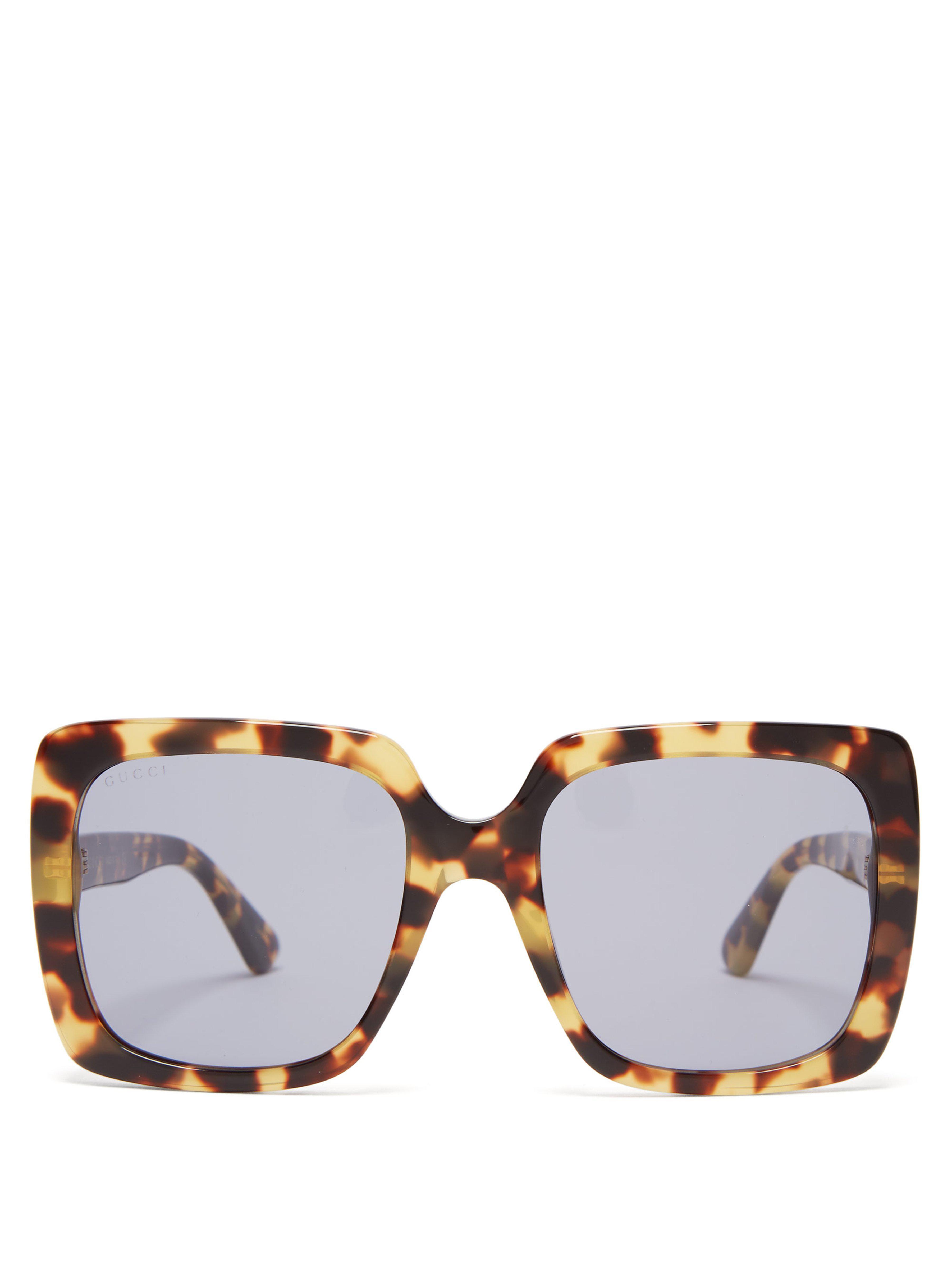 a0183d6d44 Gucci - Multicolor Oversized Square Frame Sunglasses - Lyst. View fullscreen