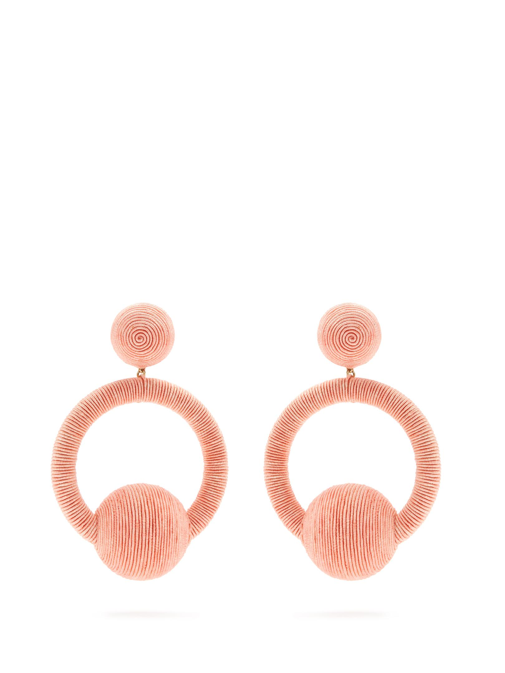 Rebecca de Ravenel Cindy hoop-drop clip-on earrings c4L4Uz