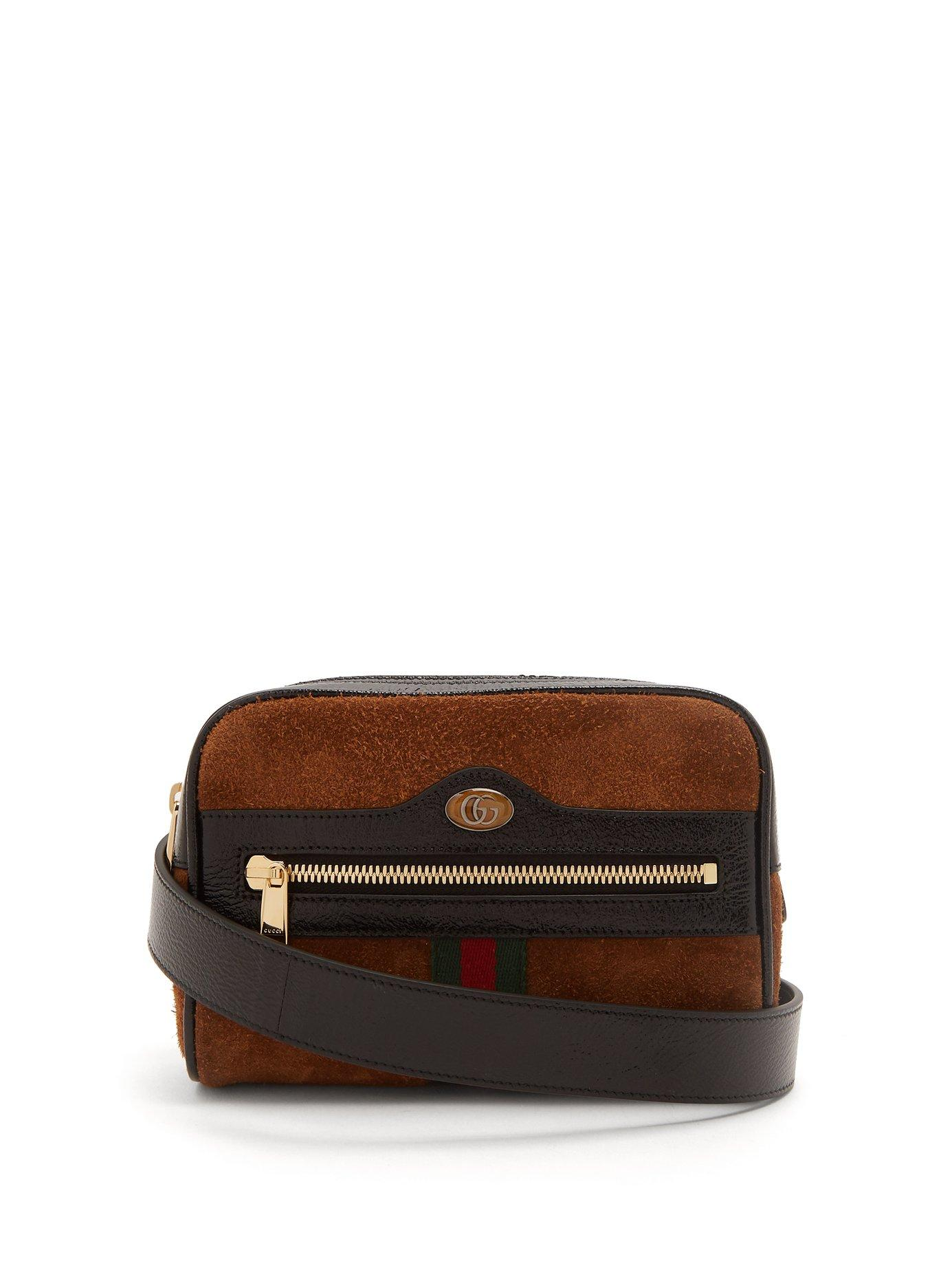 0140fe894eb0 Lyst - Gucci Ophidia Gg Suede Belt Bag in Brown