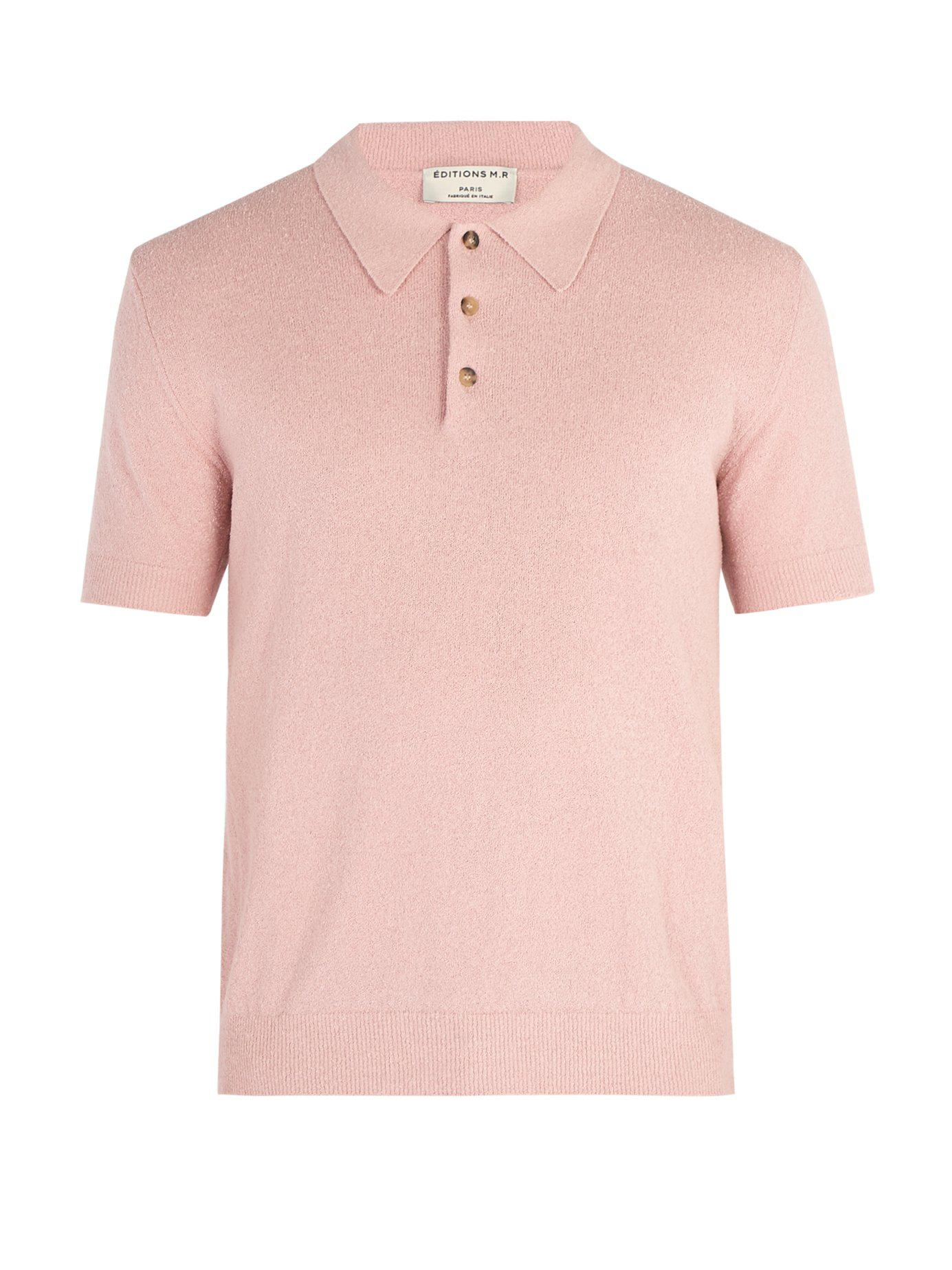 d6a937ad85af Lyst - Éditions MR Jude Terry Towelling Polo Top in Pink for Men
