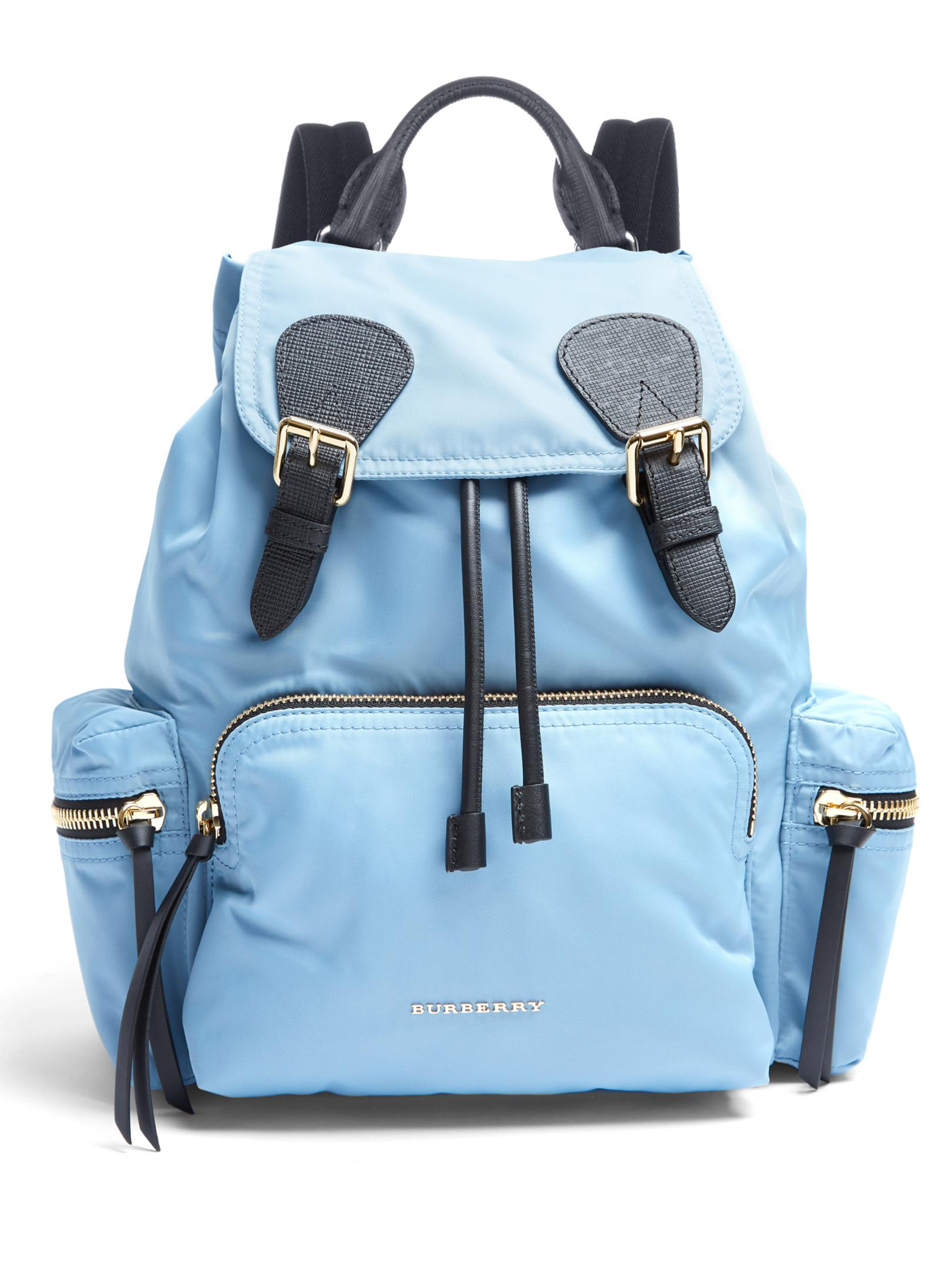 ad9870d075301 Burberry Medium Nylon Backpack in Blue - Lyst