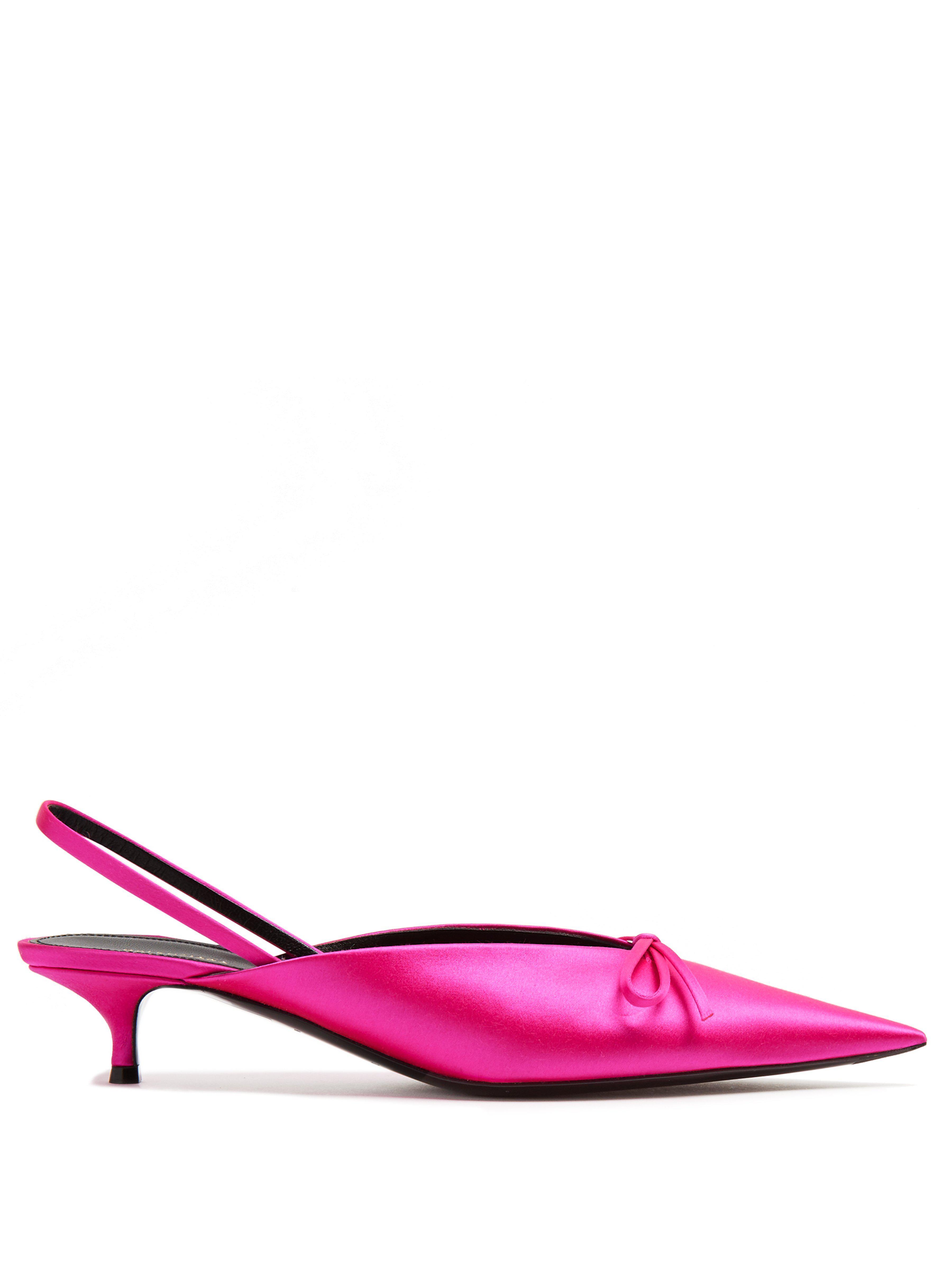 b7eee6ddde6c Balenciaga Knife Slingback Mules in Pink - Lyst