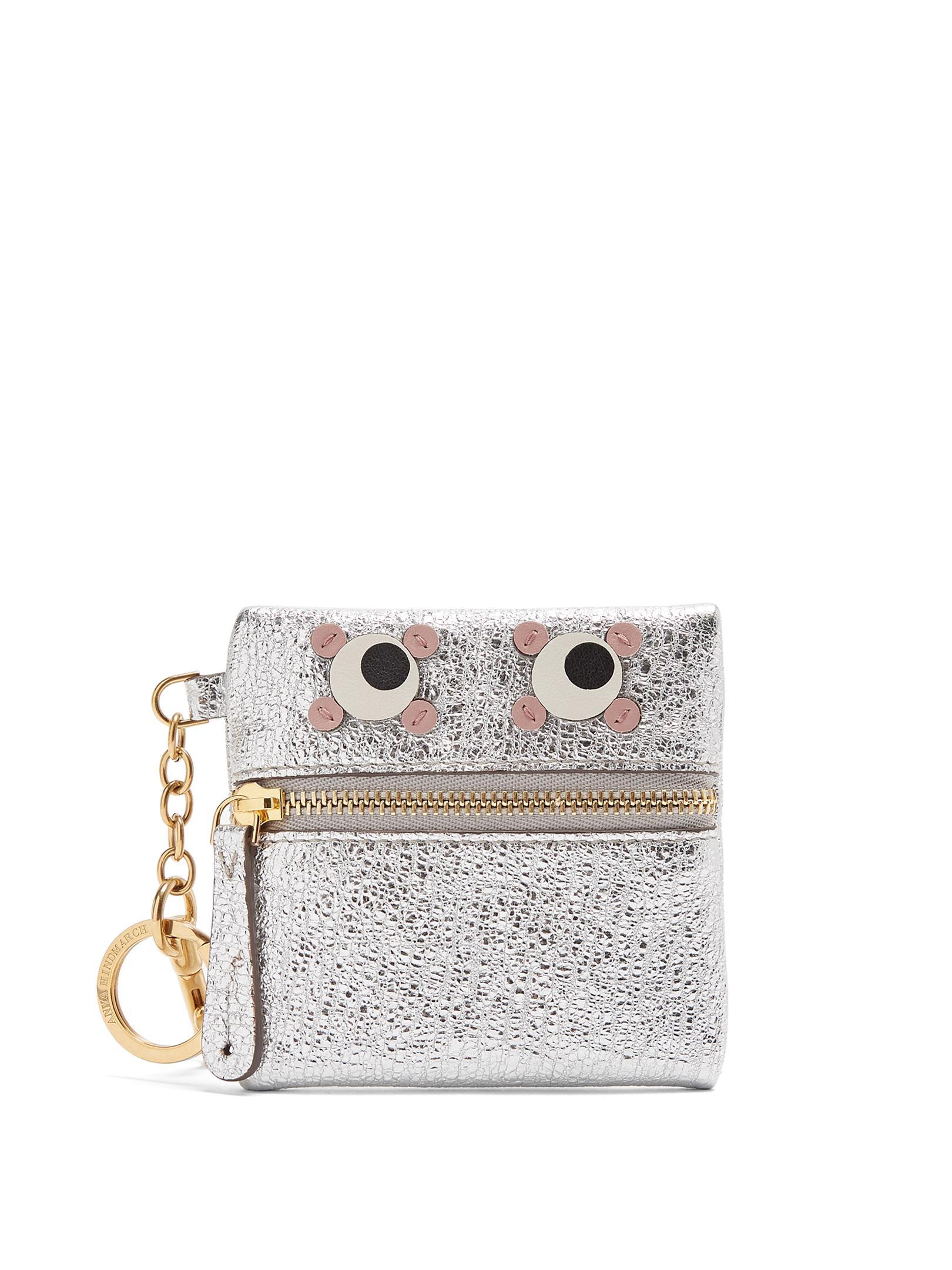 Eyes crinkled-leather coin purse Anya Hindmarch EAxHO6