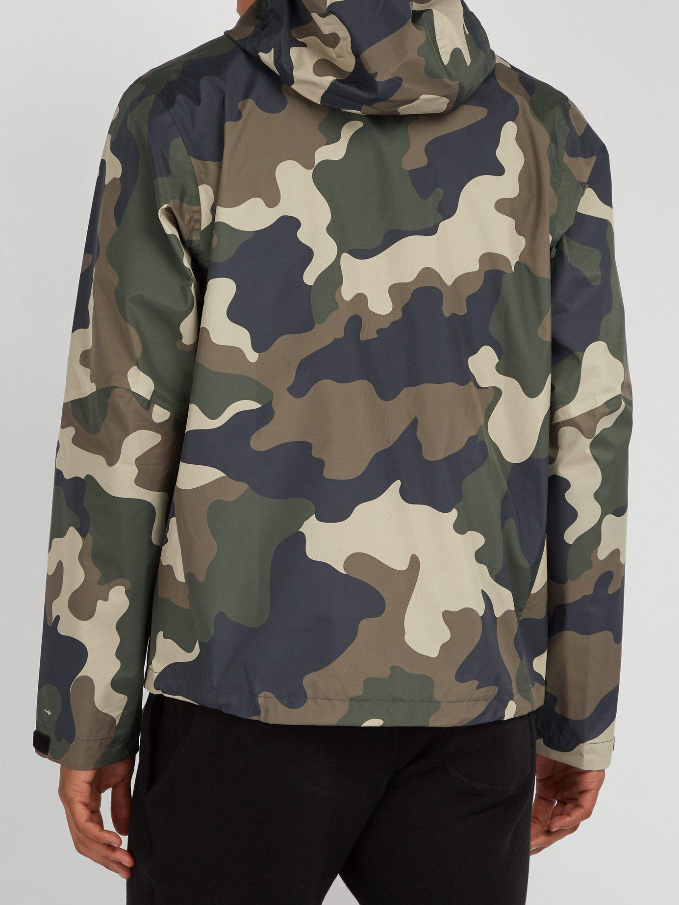 1cd16c779af6e The Upside - Gray All Weather Waterproof Hooded Camo Print Jacket for Men -  Lyst. View fullscreen