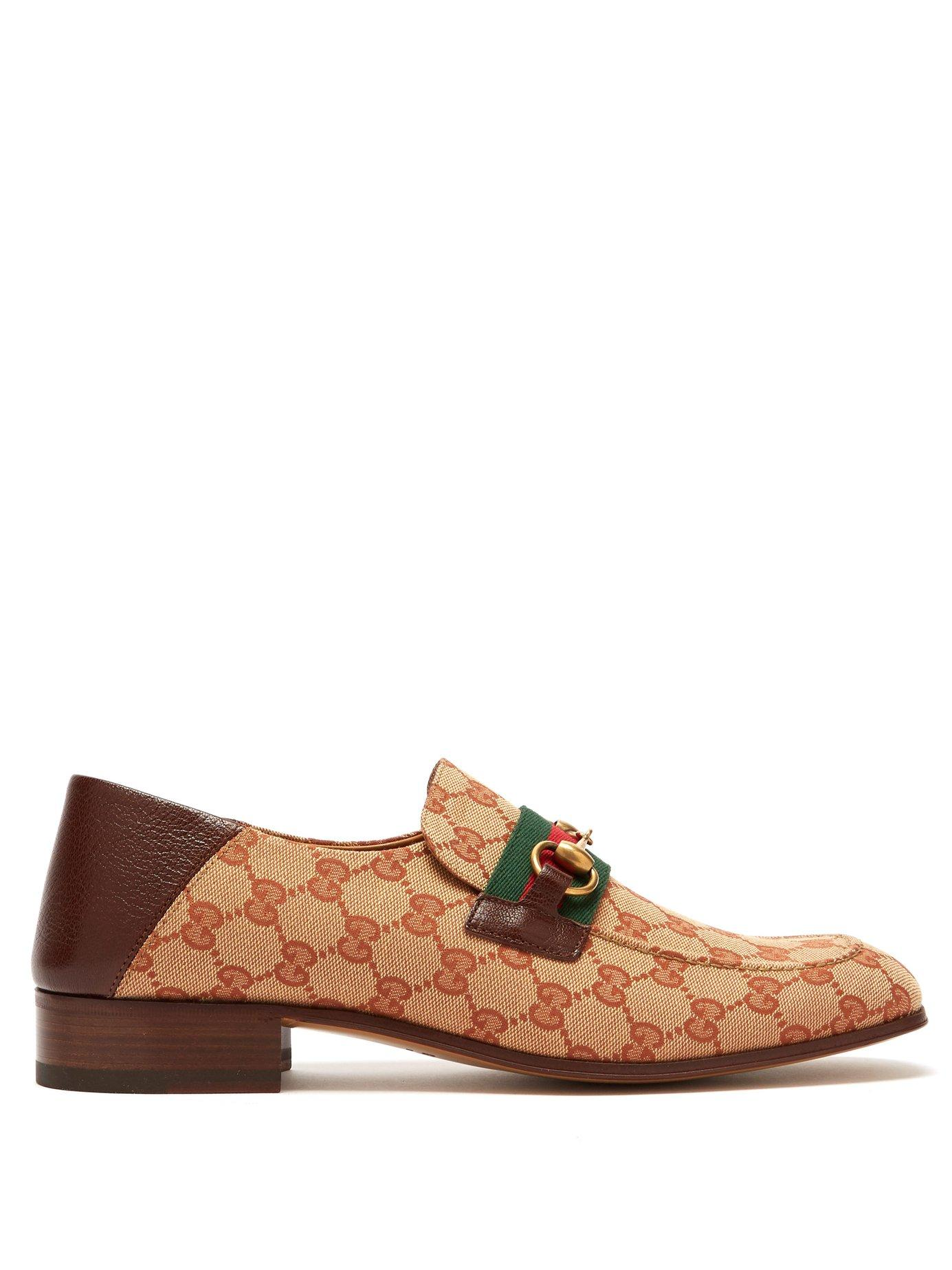 1bfeef3b9d4 Lyst - Gucci Donnie Gg Supreme Loafers in Natural for Men