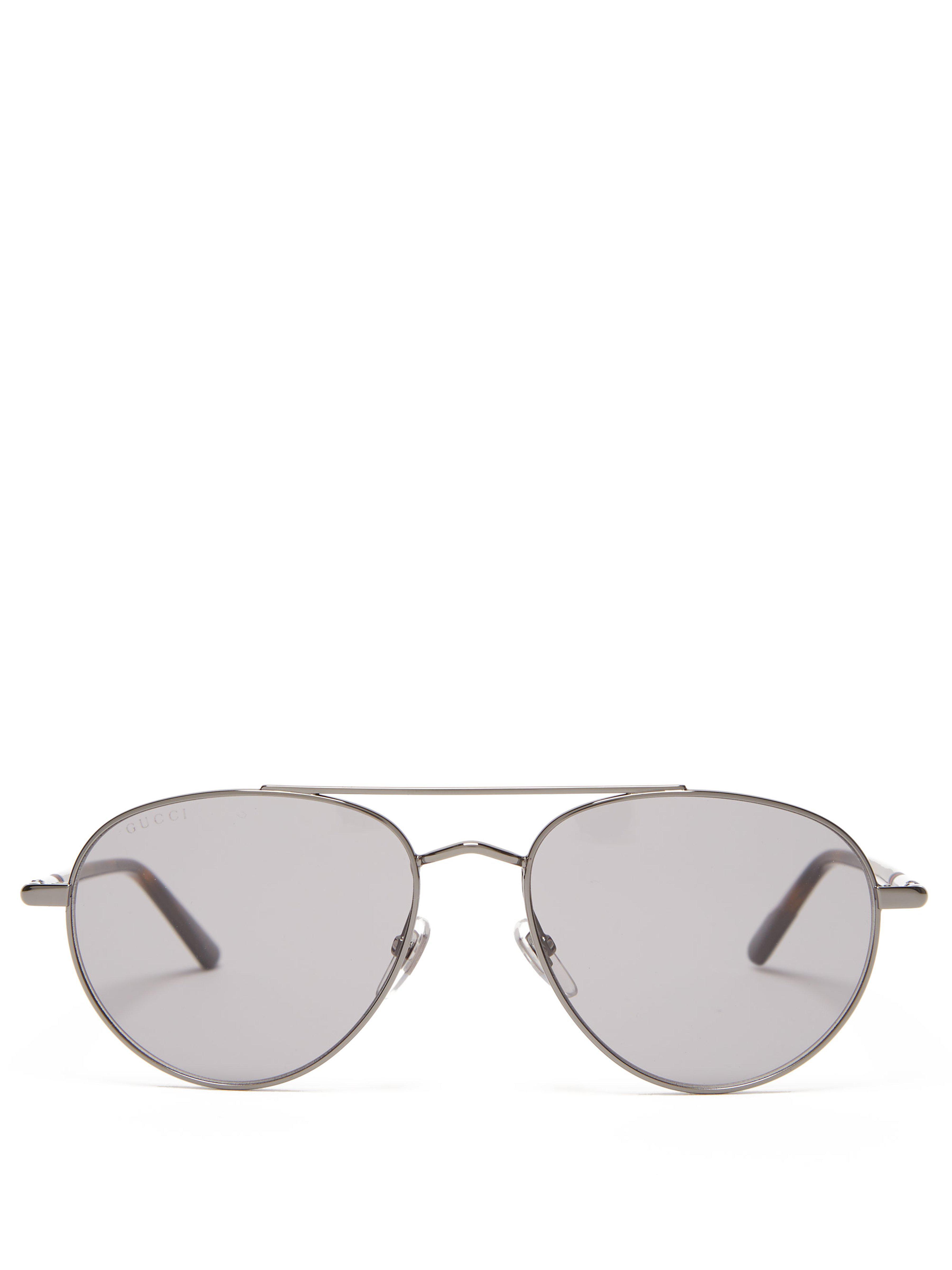 6fa8749e54056 Lyst - Lunettes de soleil aviateur en acétate et métal Gucci pour ...