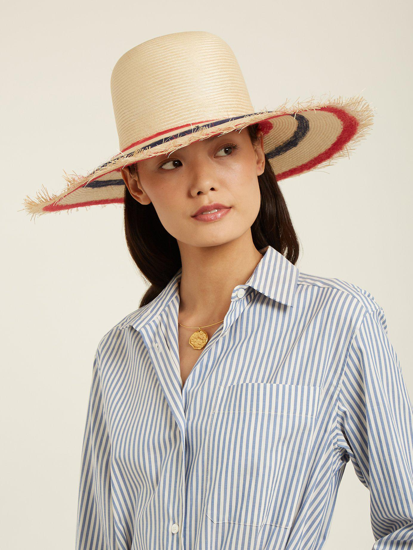 022b42f7233 Filù Hats - Multicolor Sinatra Feather Trimmed Straw Hat - Lyst. View  fullscreen