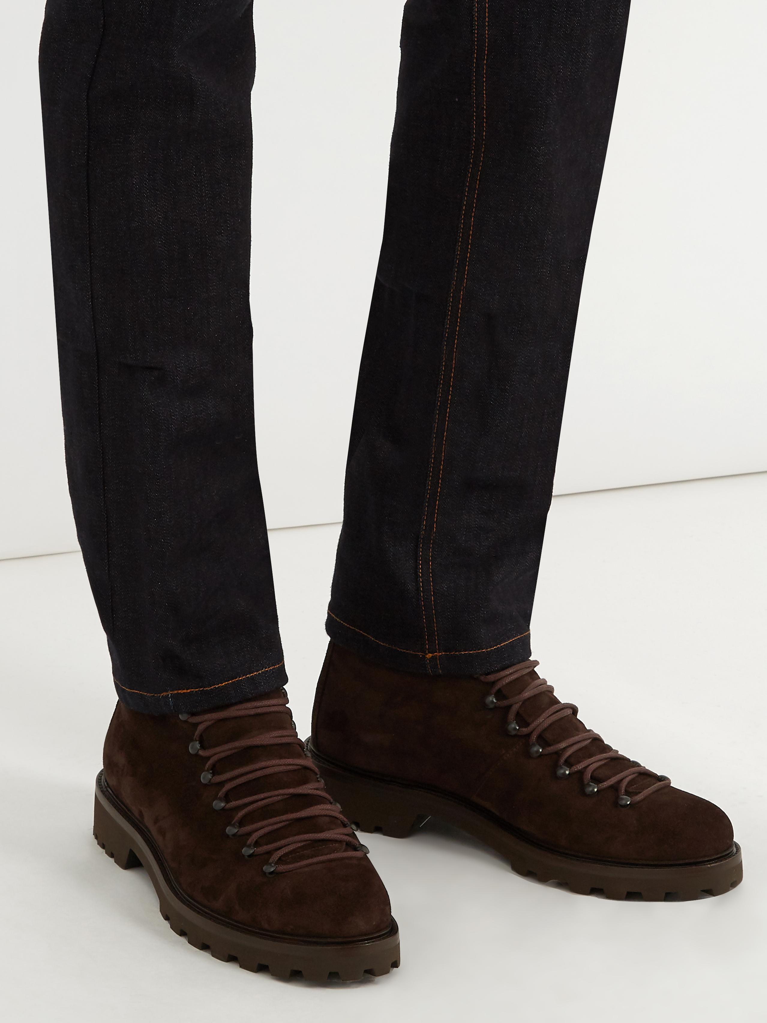 A.P.C. Brown Suede Jura Boots P1S4Tt3JY