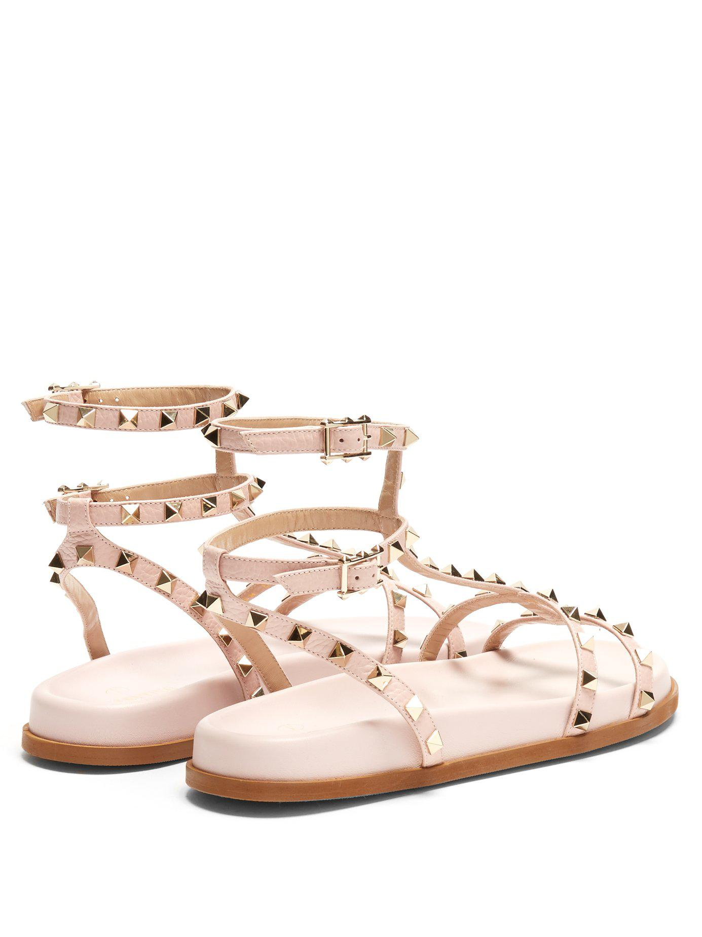 Submerge Rockstud leather sandals Valentino Cheap Sale Clearance v7OxY4VA