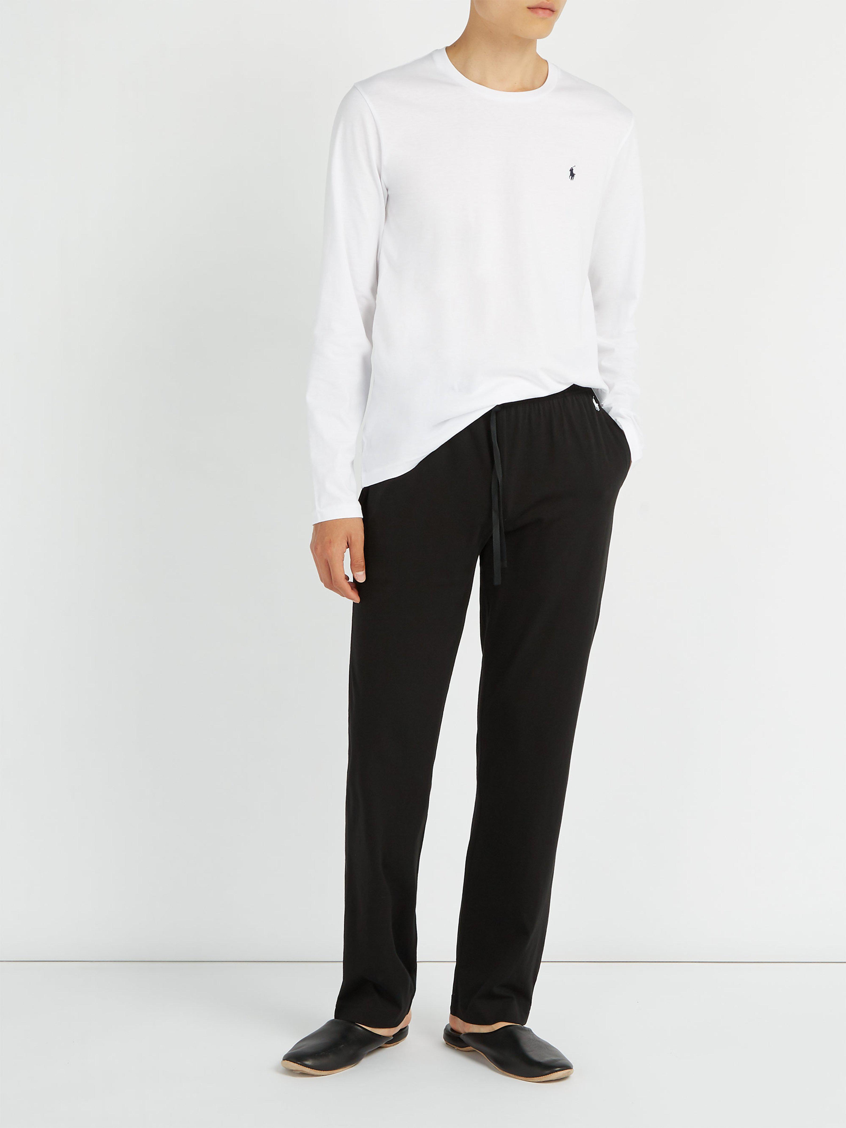 Polo Ralph Lauren - Black Logo Embroidered Pyjama Trousers for Men - Lyst.  View fullscreen e625b170a