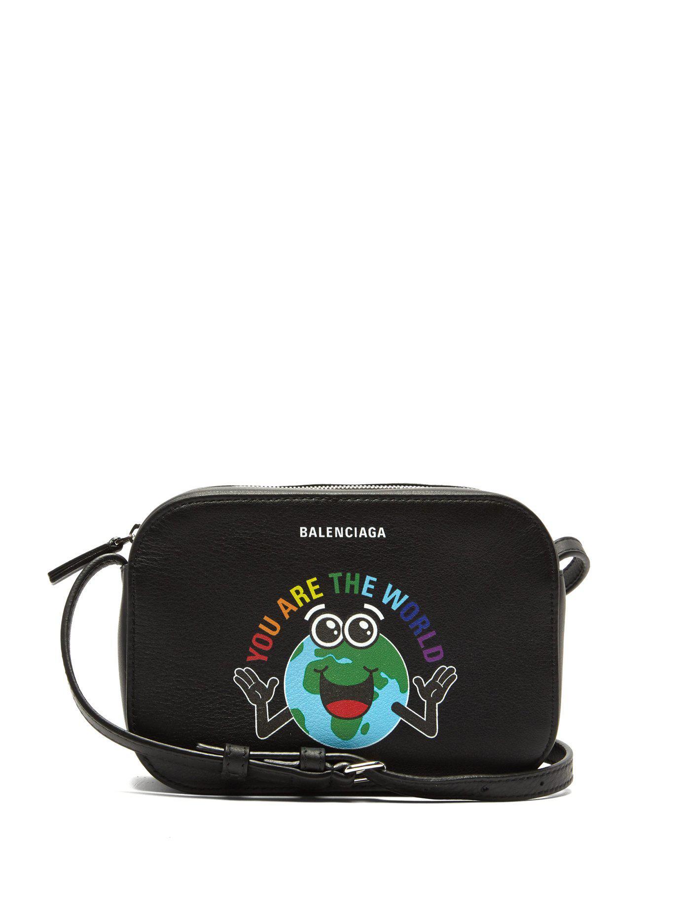 a709dd2b7d22 Balenciaga - Black Everyday Xs Leather Cross Body Bag - Lyst. View  fullscreen