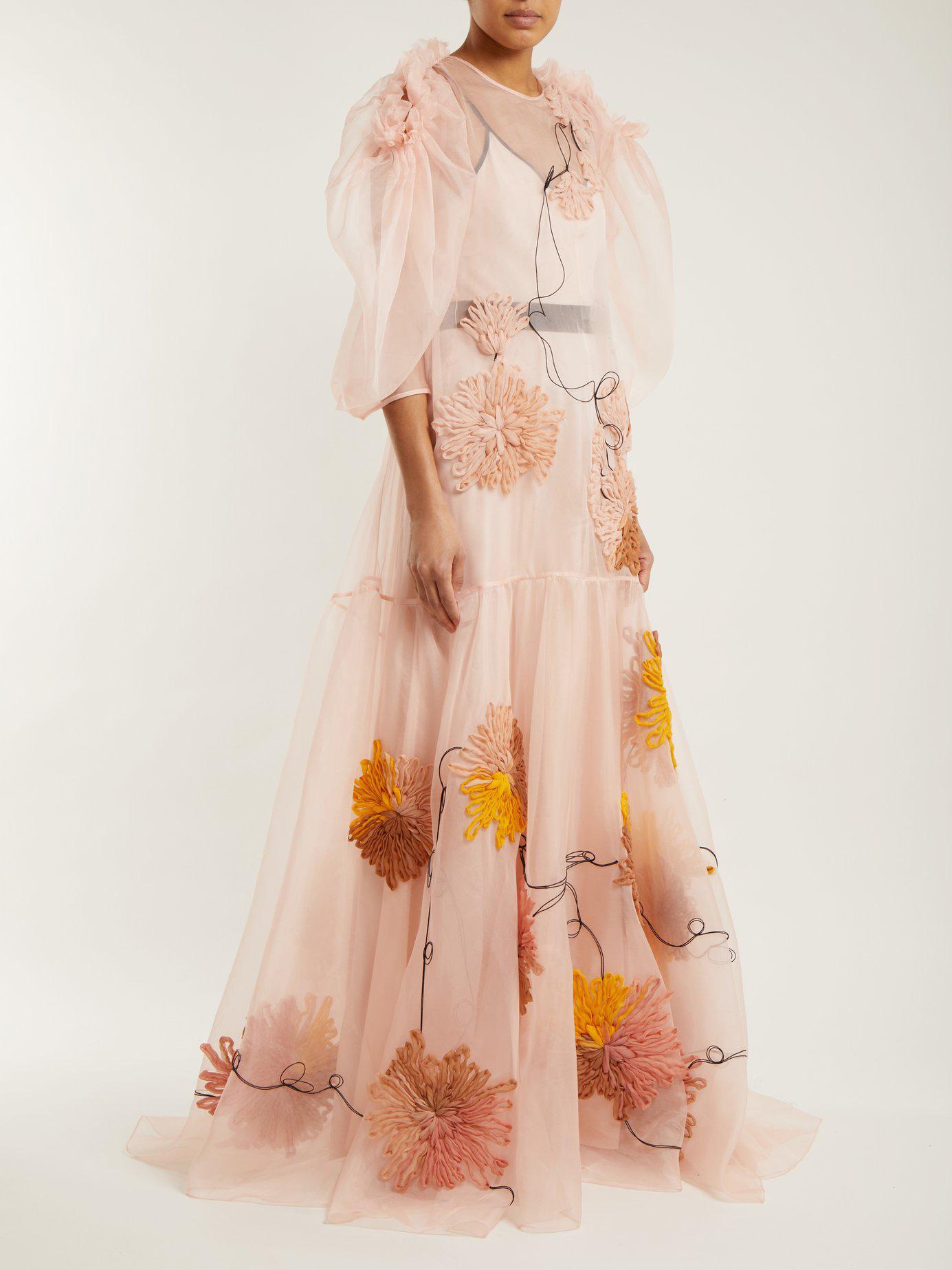 Aurorah floral-embroidered silk dress Roksanda Ilincic W78Pjc