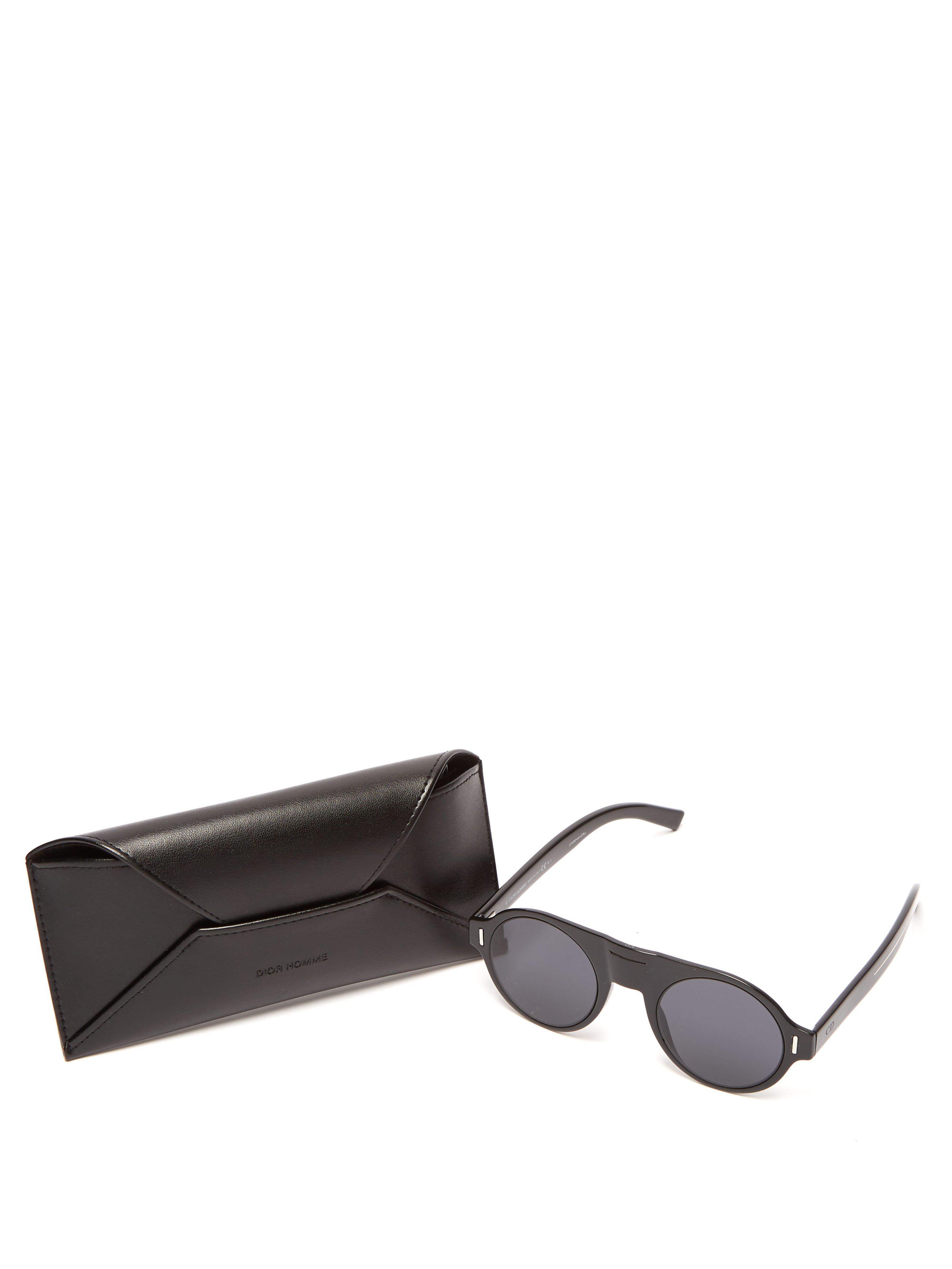 0a7f38eb4c Lunettes de soleil rondes en acétate DiorFraction2 Dior Homme pour homme en  coloris Noir - Lyst