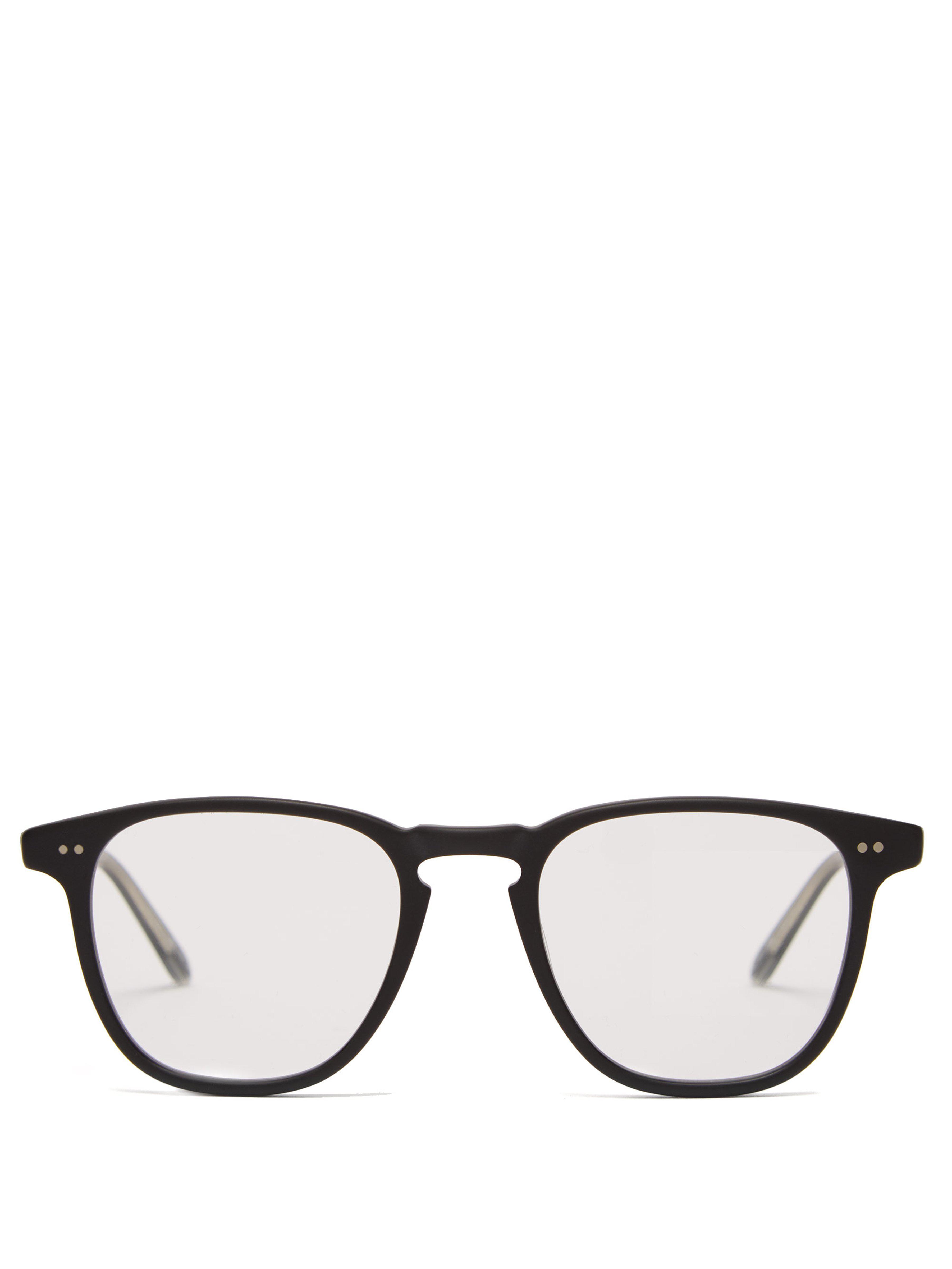 eb123571f24 Garrett Leight Brooks 47 Square Frame Glasses in Black for Men - Lyst