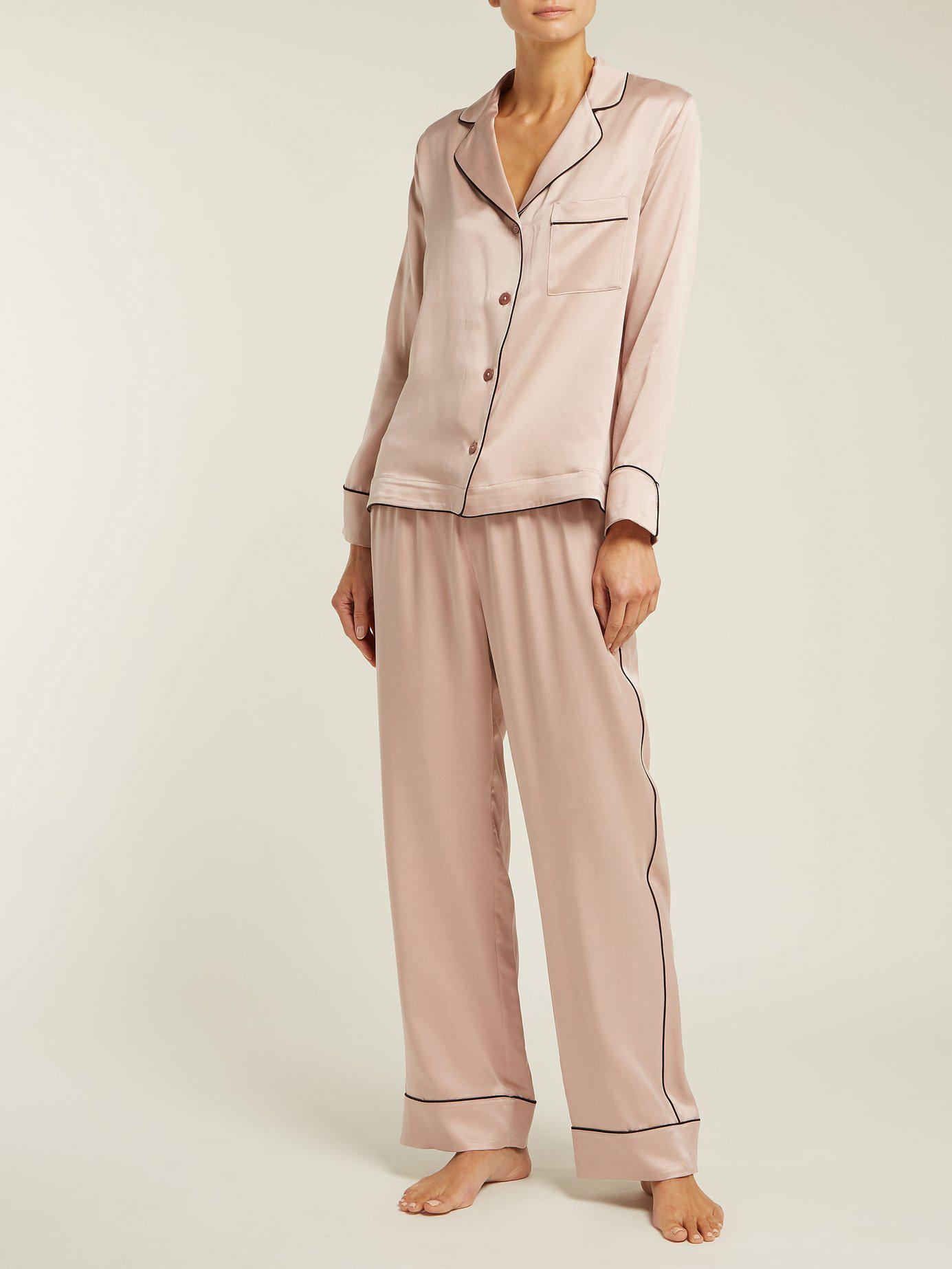 4983054c45 Morpho + Luna - Pink Colette Silk Pyjamas - Lyst. View fullscreen