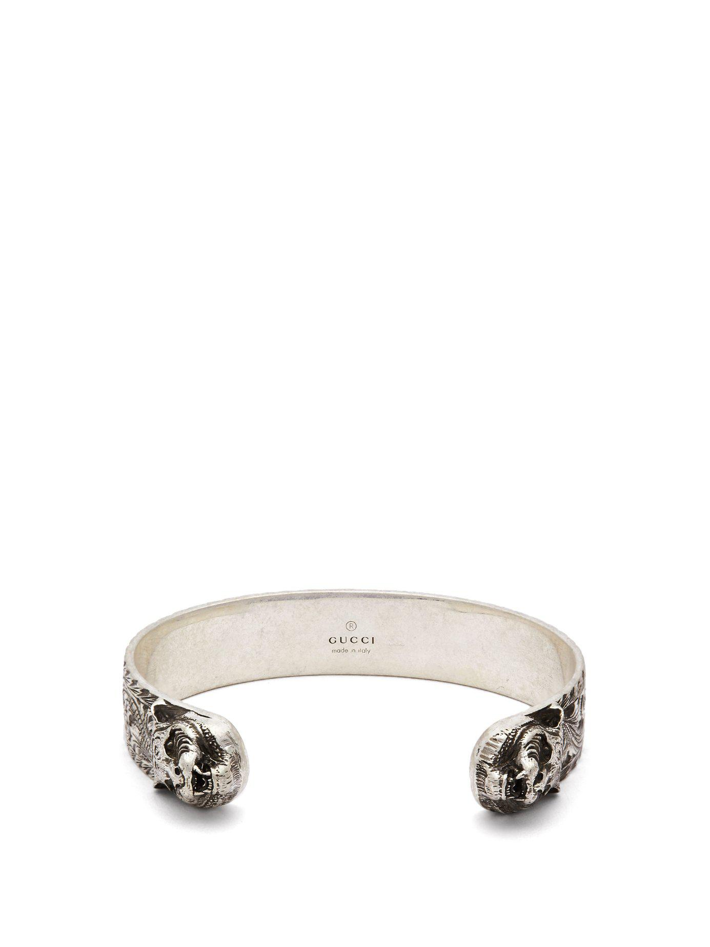 018c014bd Tap to visit site. Gucci Metallic Tiger Head Sterling Silver Cuff Bracelet  for men