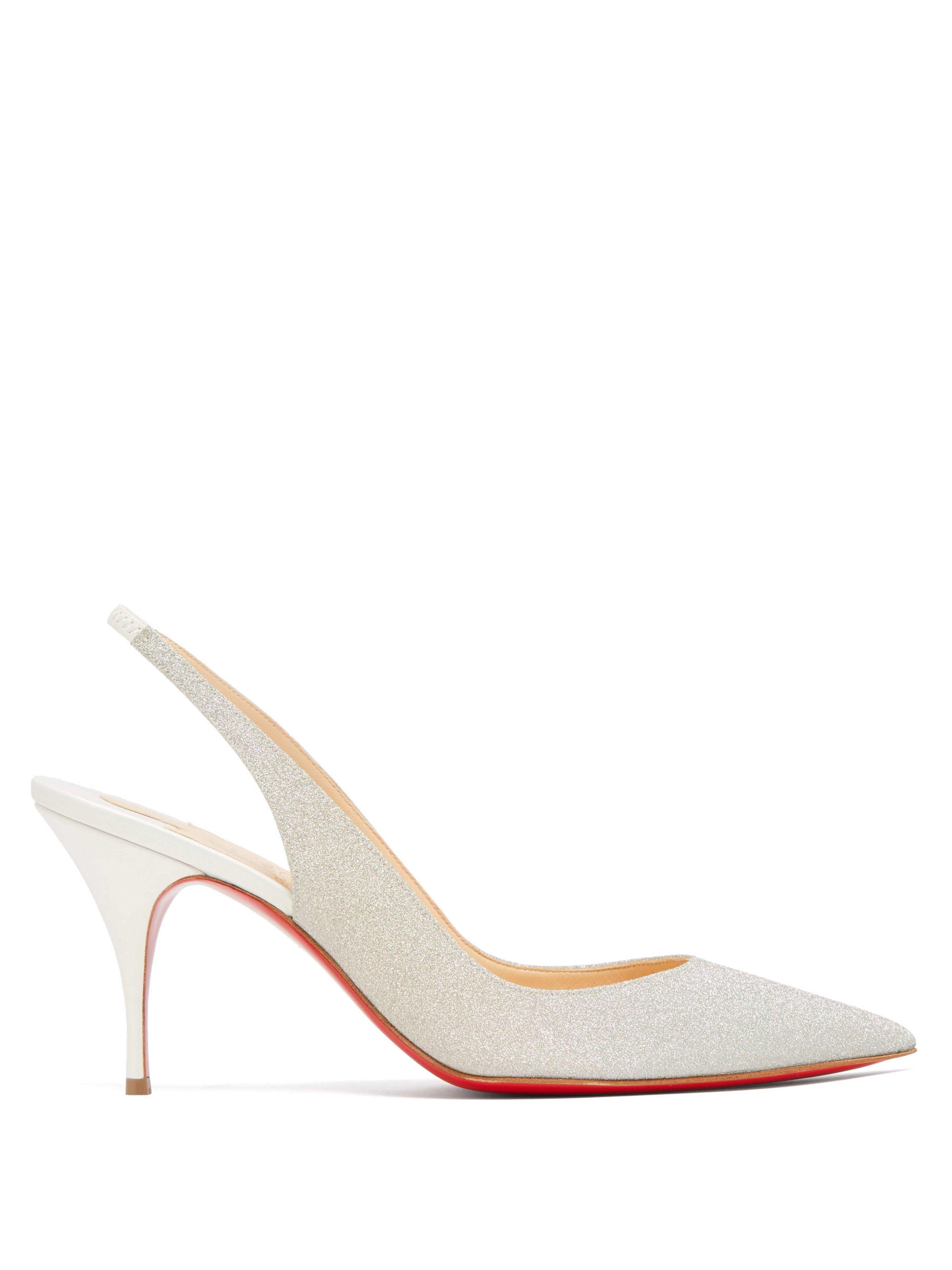 cfa1689d61e1 Christian Louboutin. Women s Clare Slingback Glitter Court Shoes
