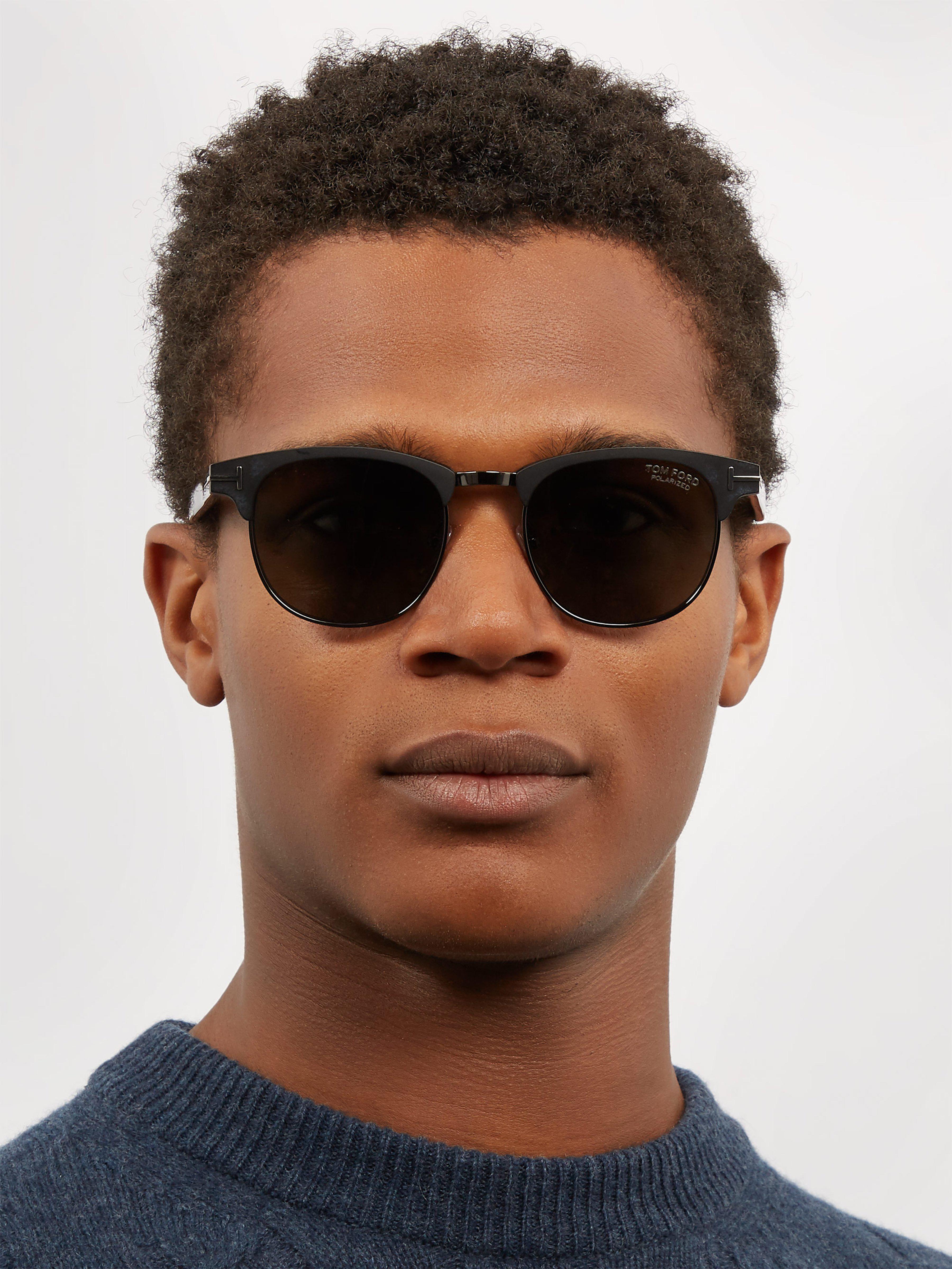 548feeefa7d Tom Ford - Black Round-frame Matte Metal Sunglasses for Men - Lyst. View  fullscreen