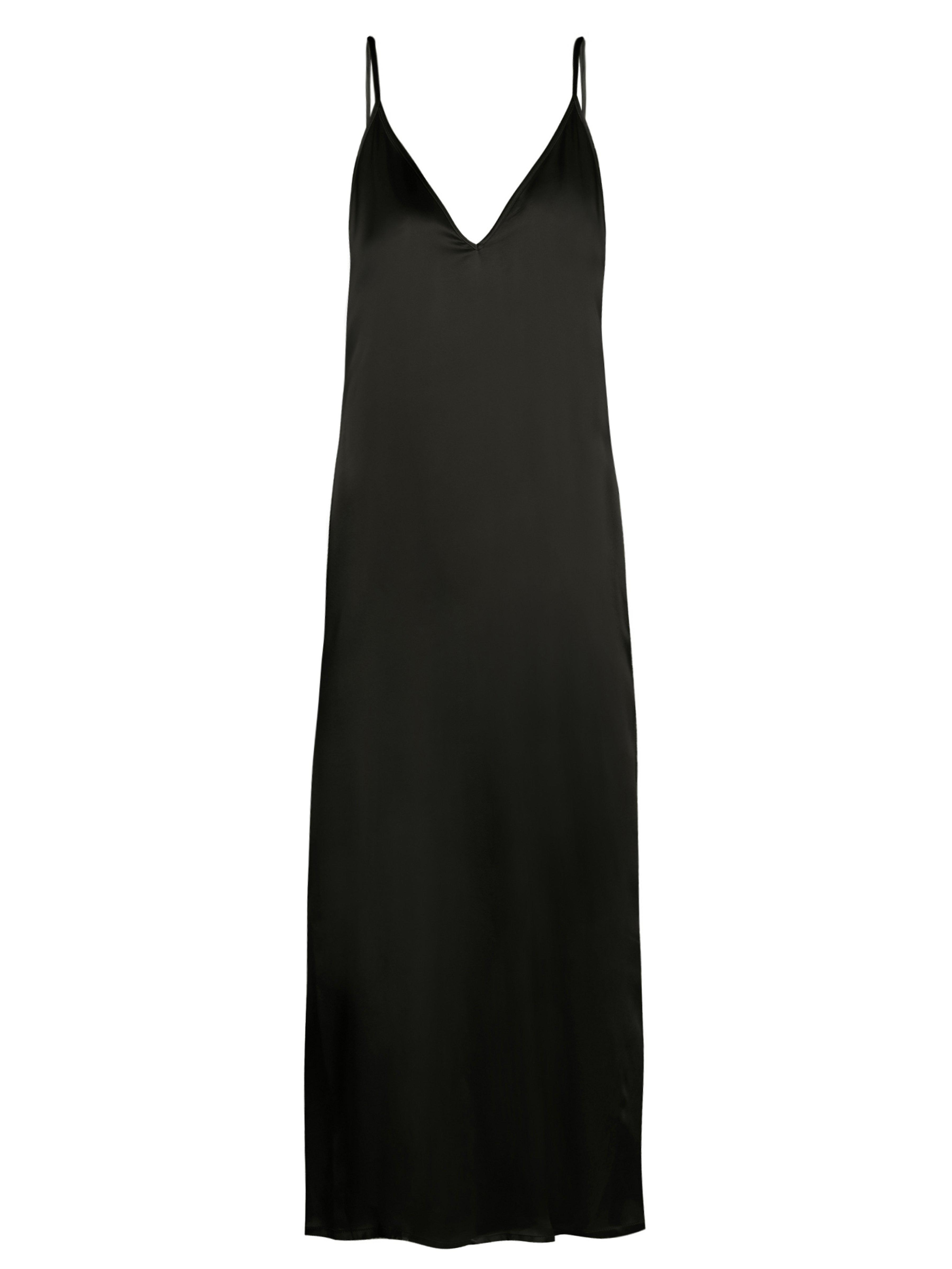 98db4db28497 Raey V Neck Silk Satin Midi Slip Dress in Black - Lyst