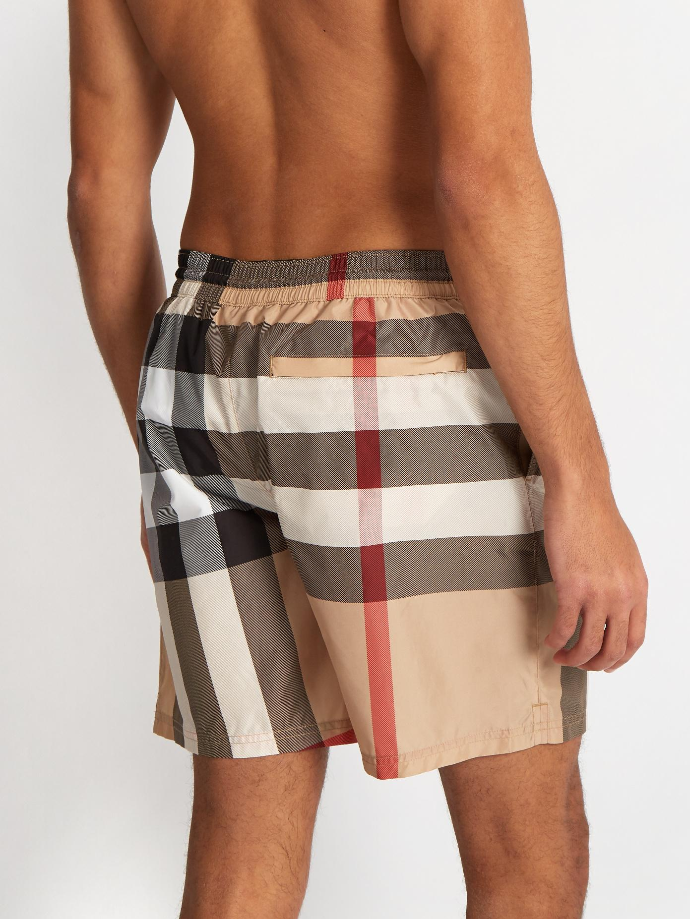 2a68ada740 Burberry House-check Straight-leg Swim Shorts for Men - Lyst