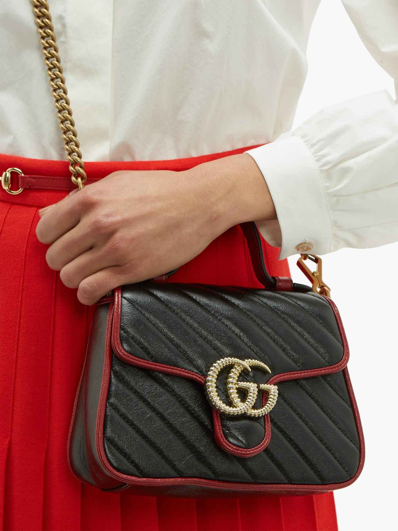 689d49daa Gucci - Black Gg Marmont Mini Quilted Leather Cross Body Bag - Lyst. View  fullscreen