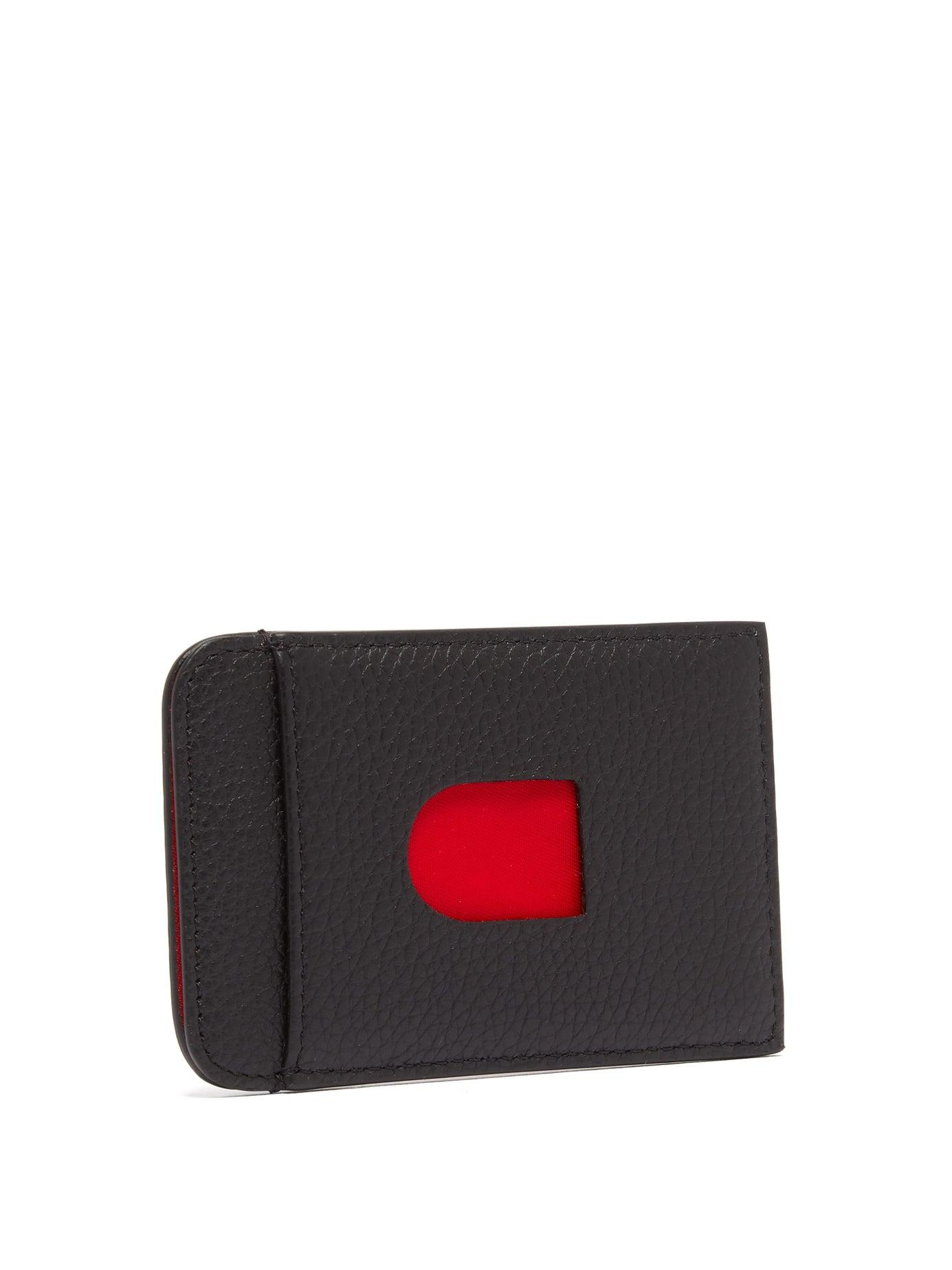 c44cda97777 Christian Louboutin Loubislide Rubber Inlay Leather Cardholder in ...