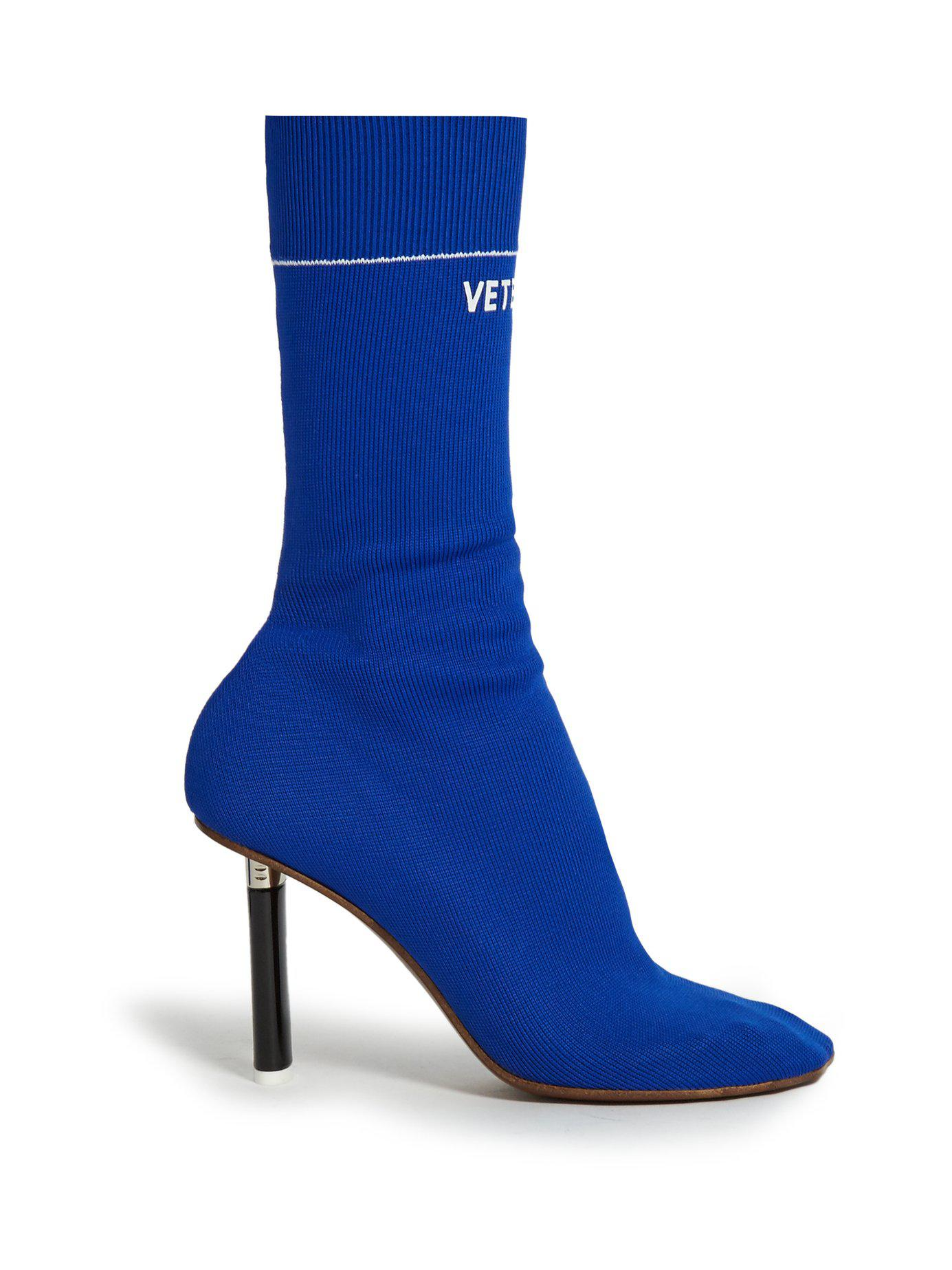 cfc973b14 Lyst - Vetements Lighter-heel Sock Ankle Boots in Blue