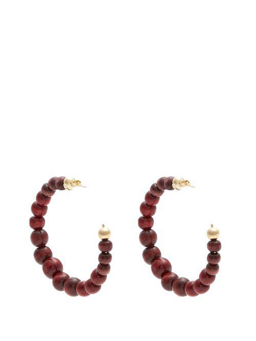 Rosantica Inganno bead-embellished hoop earrings DX6oS