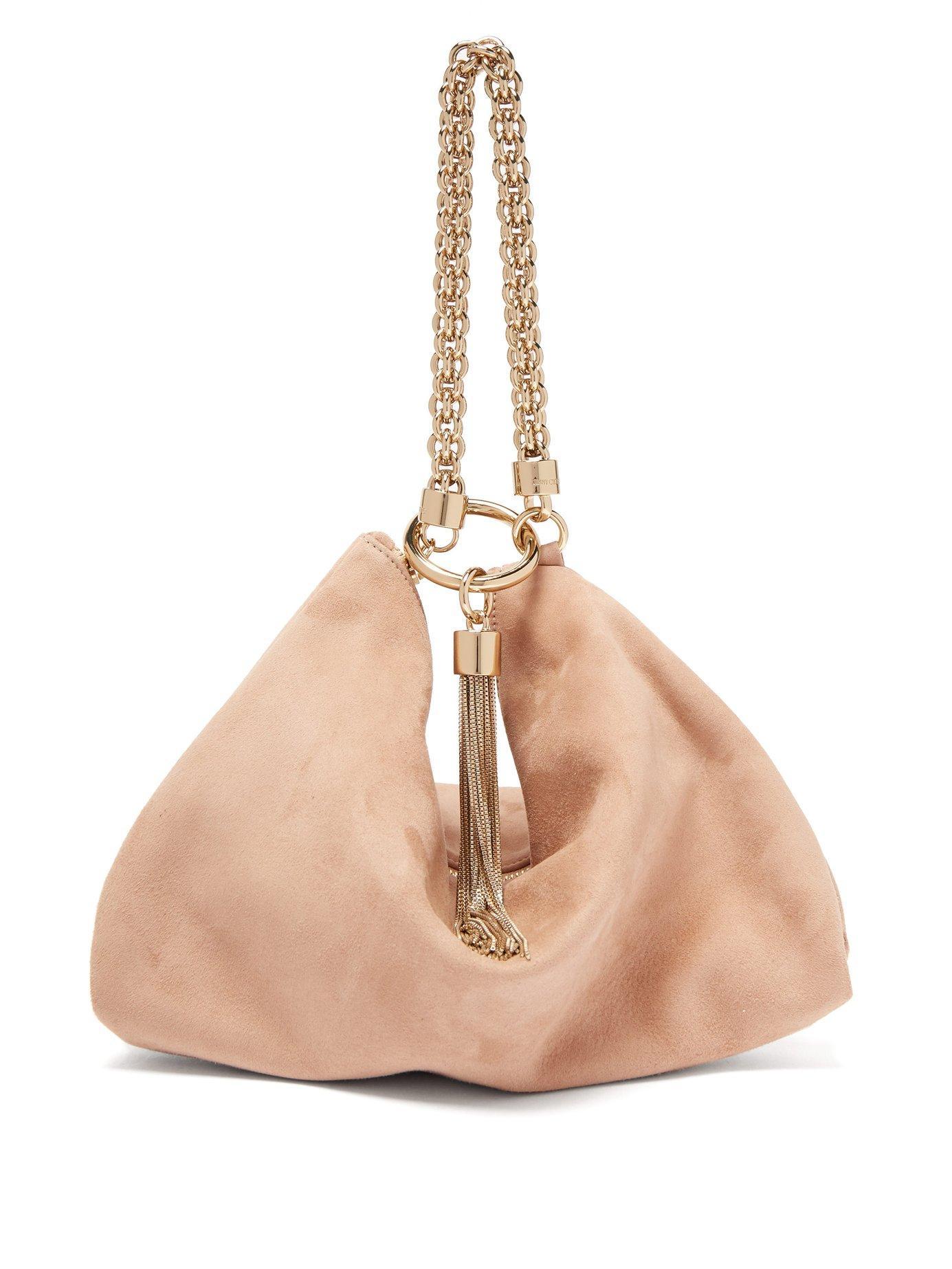 e4919a0079 Lyst - Jimmy Choo Callie Suede Clutch Bag in Pink