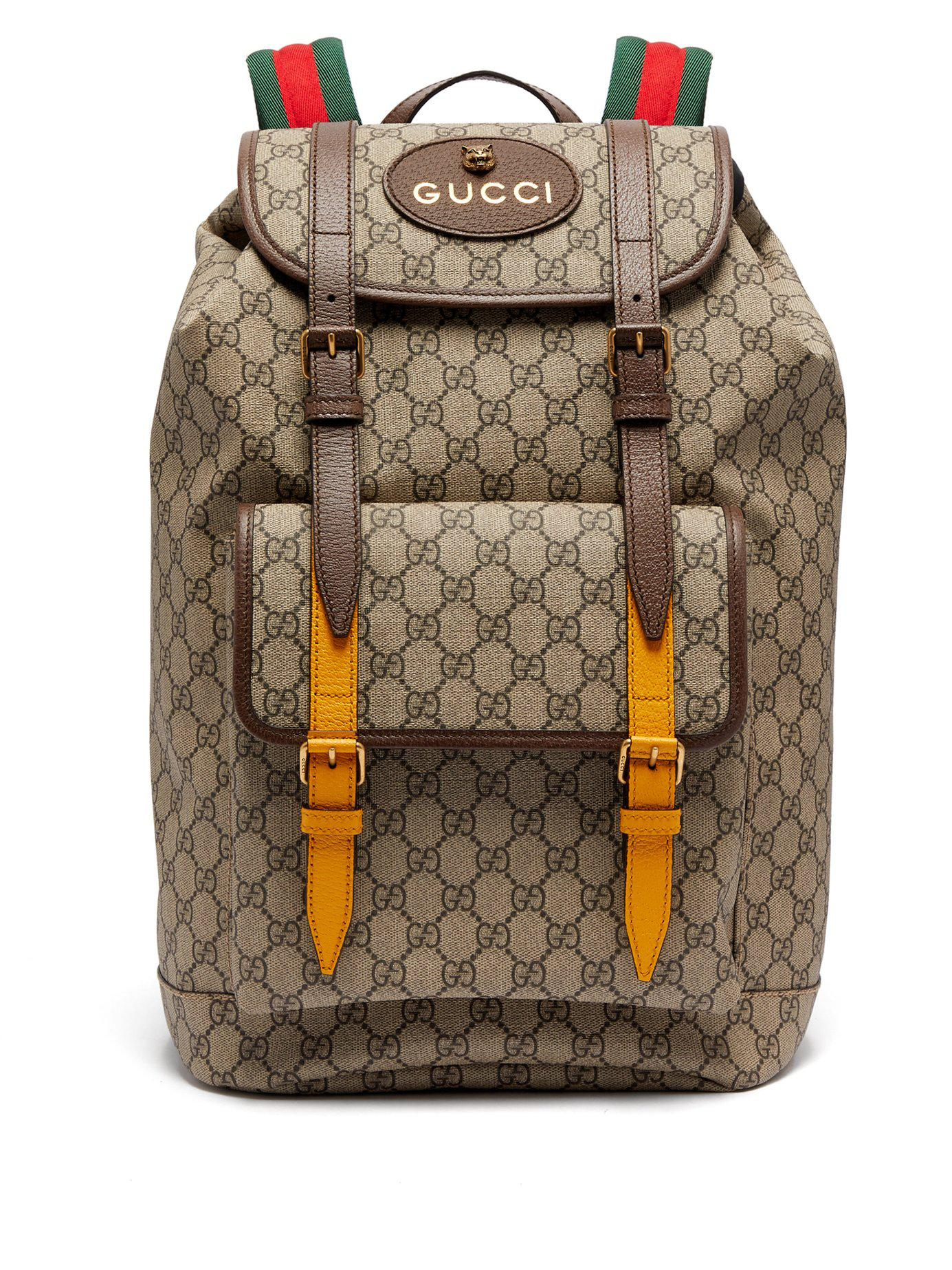 191425eea Gucci Brown Canvas Backpack | Building Materials Bargain Center