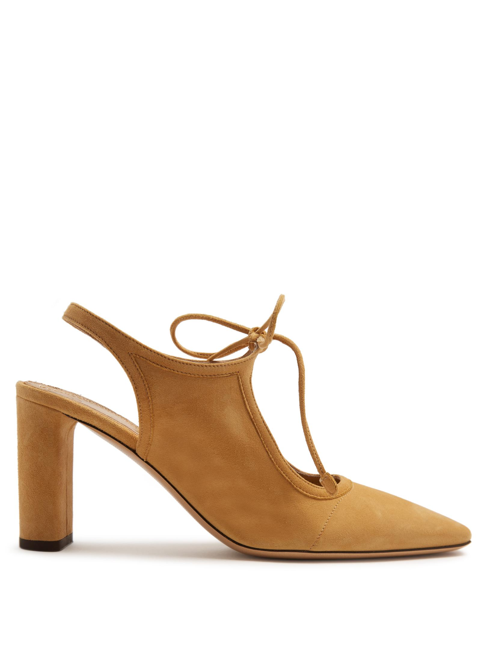 Womens Camil Suede Slingback Pumps The Row