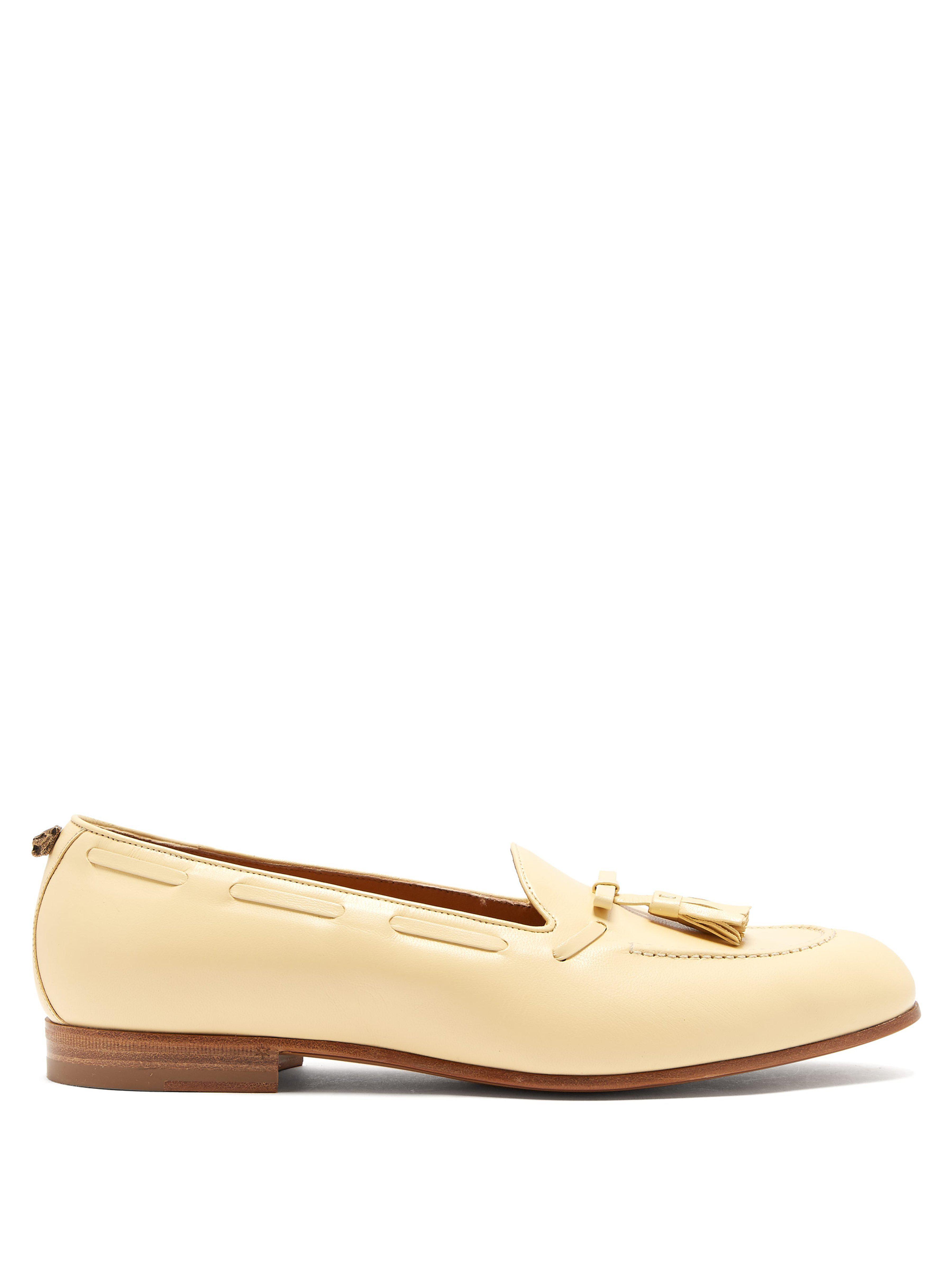 533e25e9dab Gucci Quentin Tassel Leather Loafers for Men - Lyst