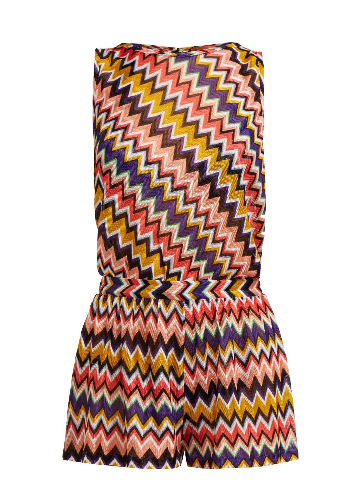 5711132b04 Missoni. Women s Multicoloured Zigzag Playsuit