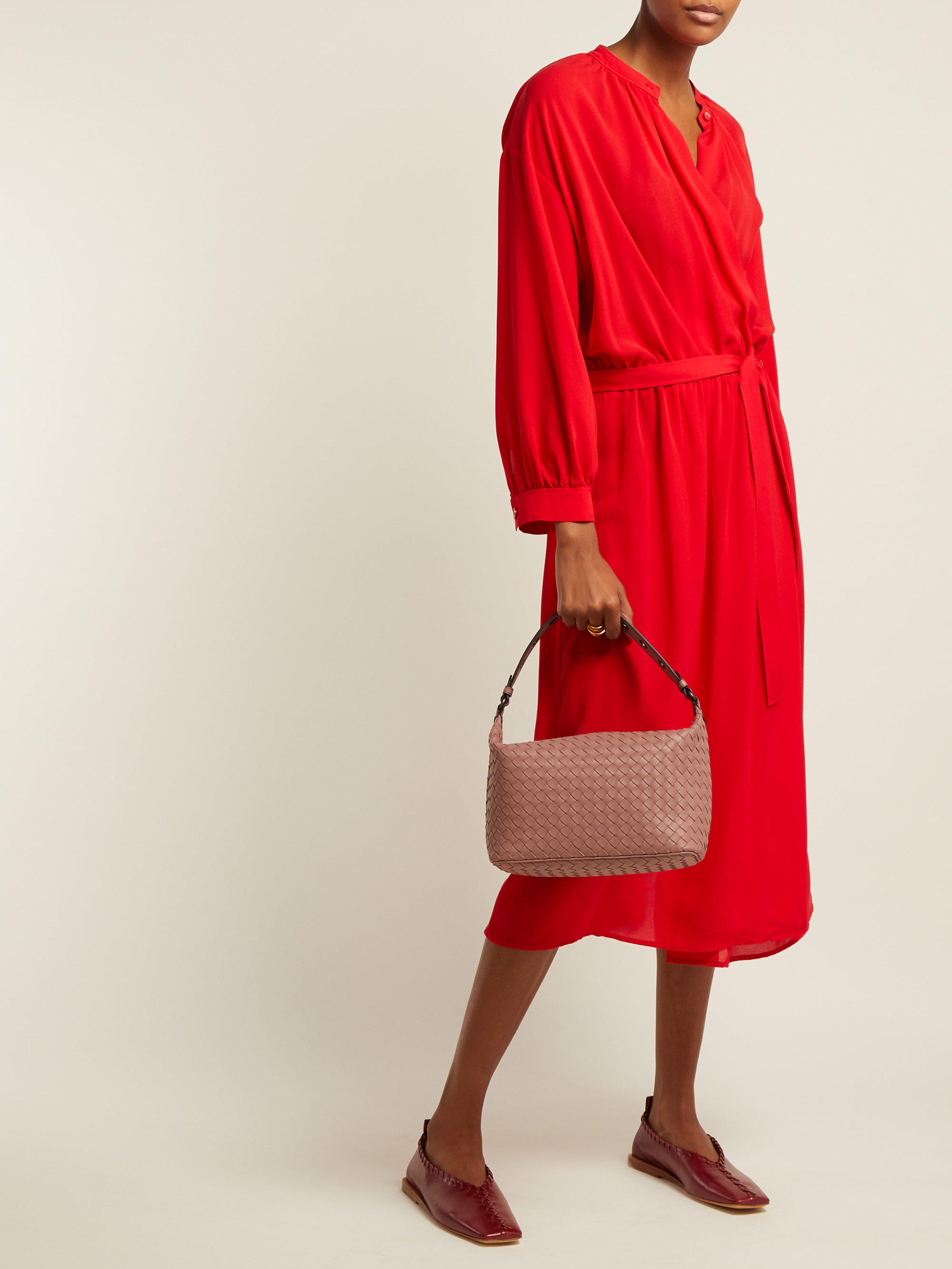 Bottega Veneta - Pink Ciambrino Intrecciato Leather Shoulder Bag - Lyst.  View fullscreen c1db00c2b96d2