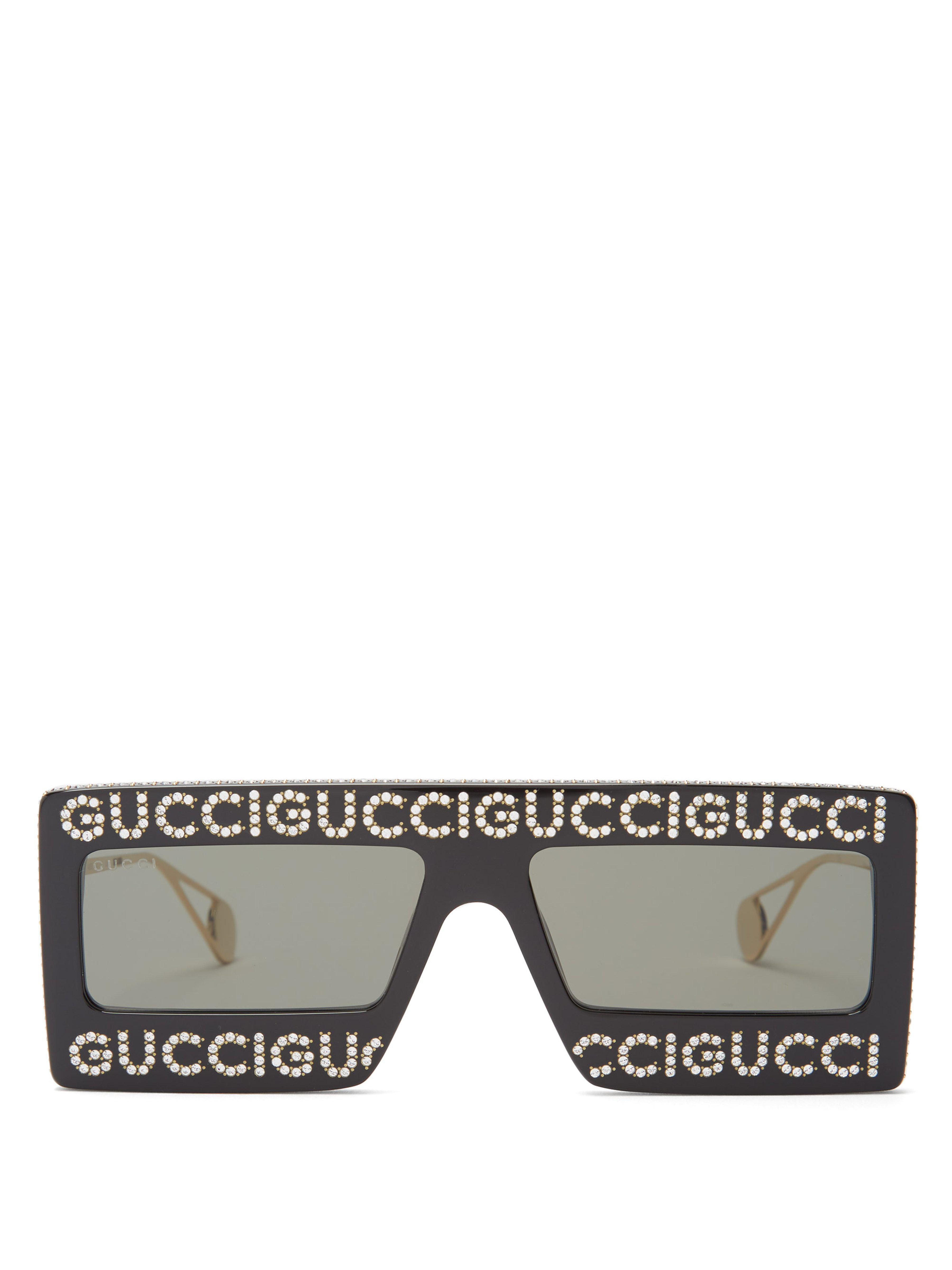 773027e33e Gucci Hollywood Forever Embellished Sunglasses in Black - Save 44 ...