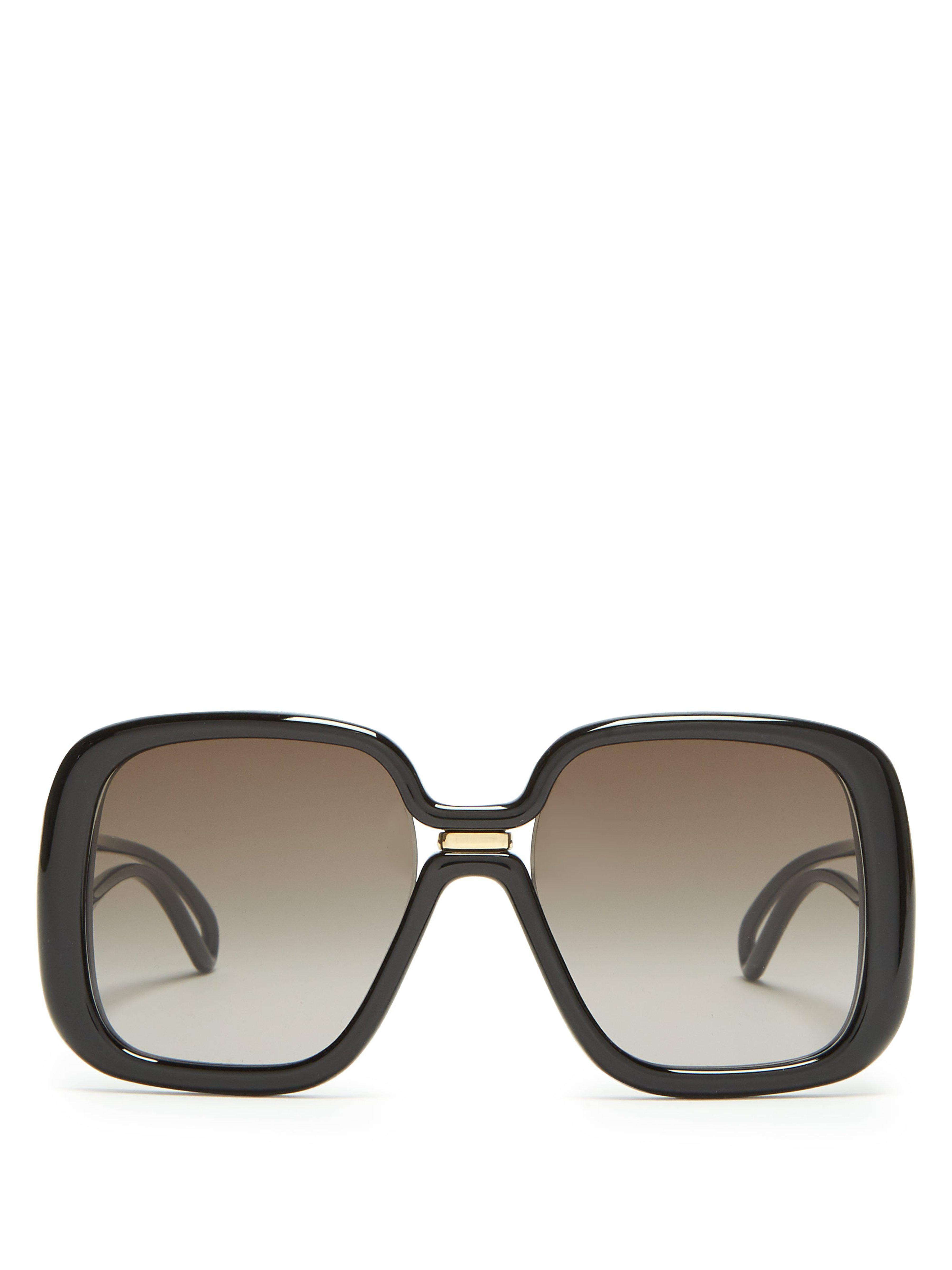 06a10908ba689 Givenchy Oversized Square Frame Acetate Sunglasses in Black - Lyst