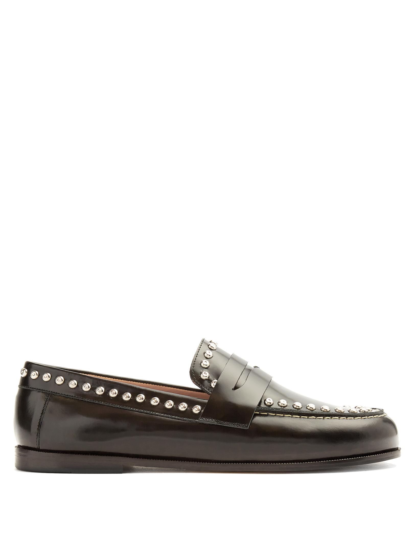 Black Fenzay Studded Loafers Isabel Marant CLLI2gjUb