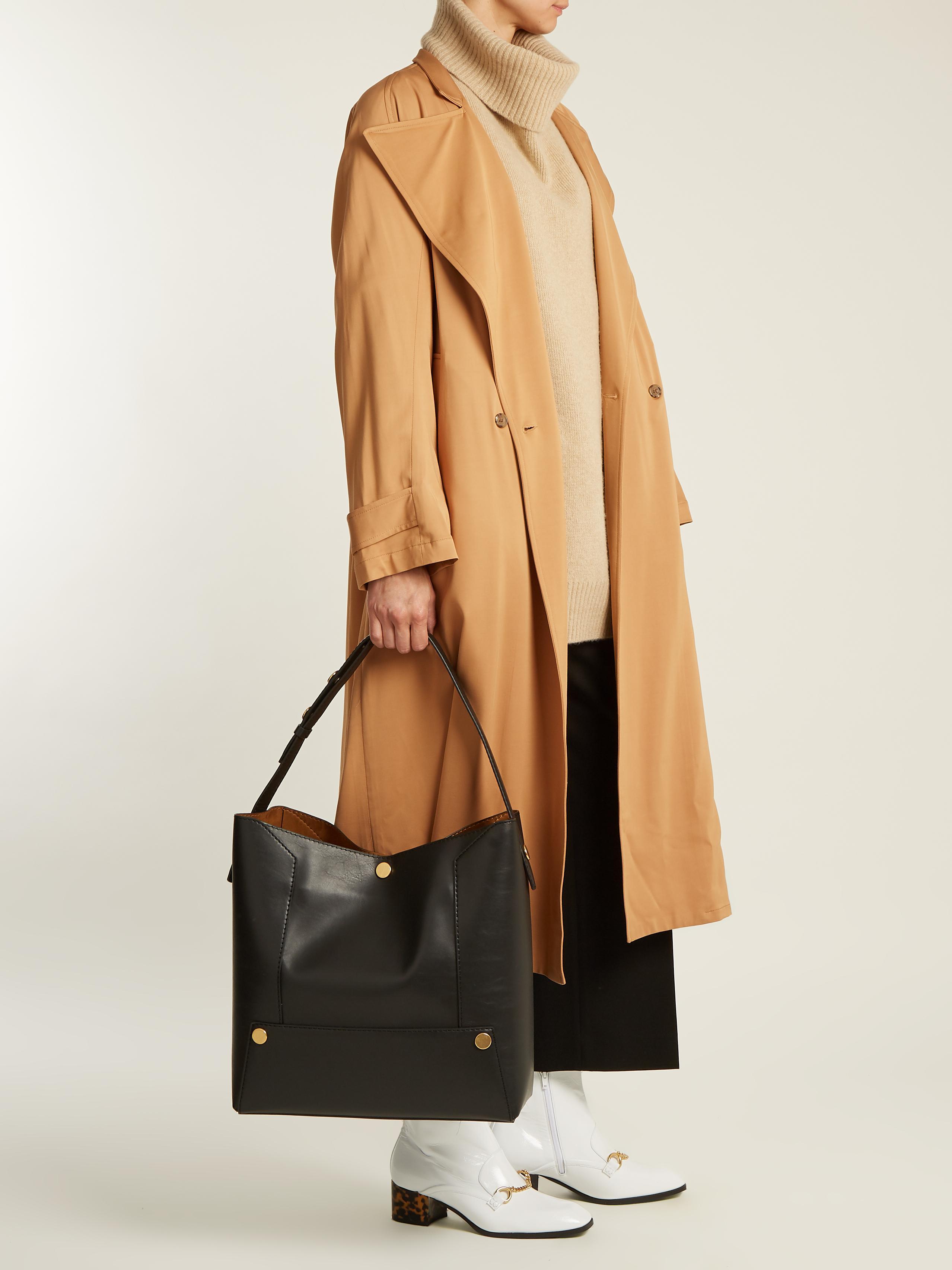 d005b3ae950f Lyst - Stella McCartney Stella Popper Faux-leather Shoulder Bag in Black