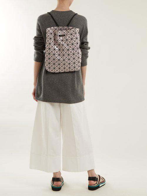 Lyst - Bao Bao Issey Miyake Wring Drawstring-rope Backpack in Pink 534e4c0f1c