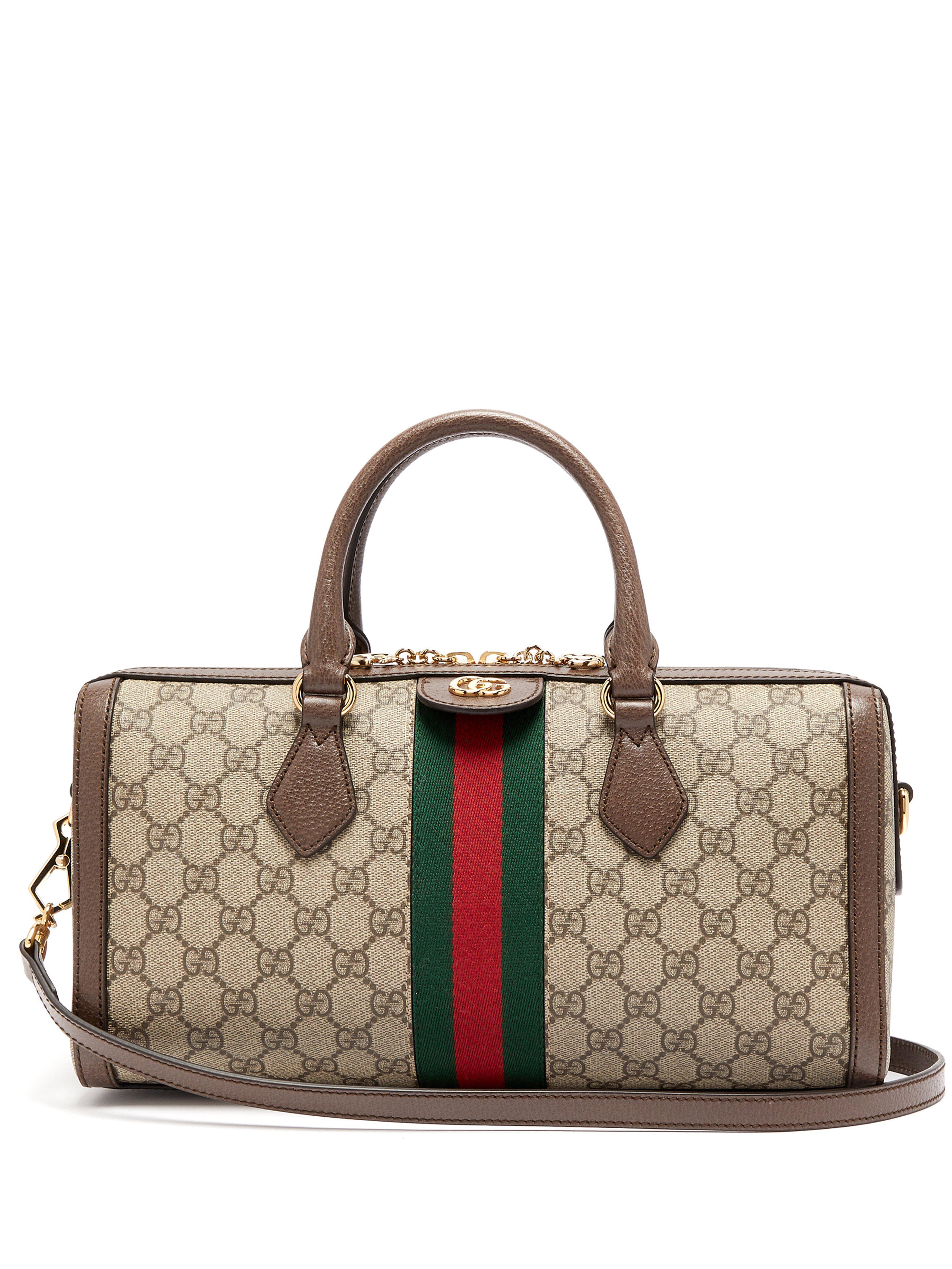 9ec27f79dcf874 Gucci. Women's Ophidia Boston Gg Supreme Bag