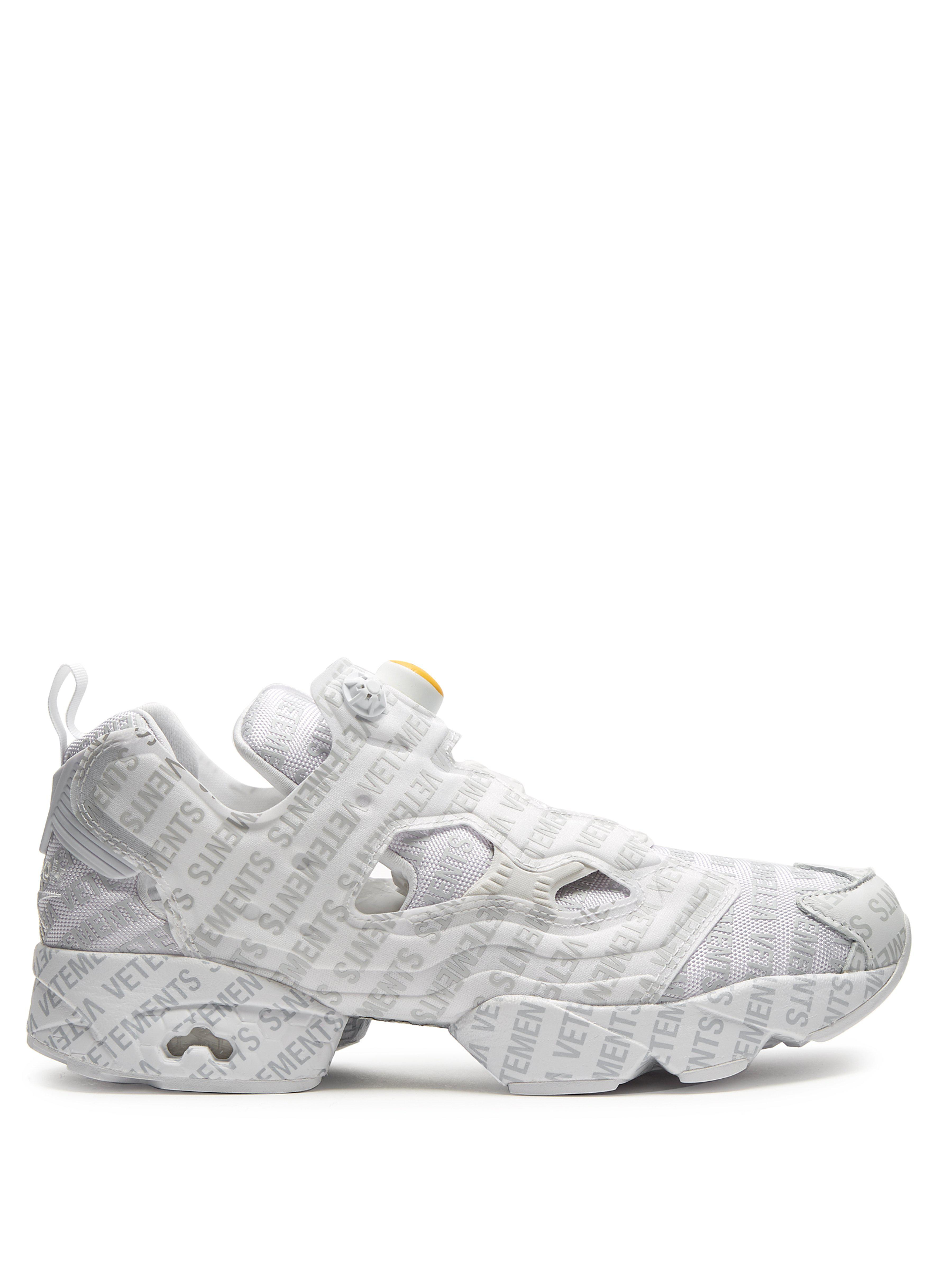 732a40a824a Vetements X Reebok Instapump Fury Low-top Trainers in Gray for Men ...