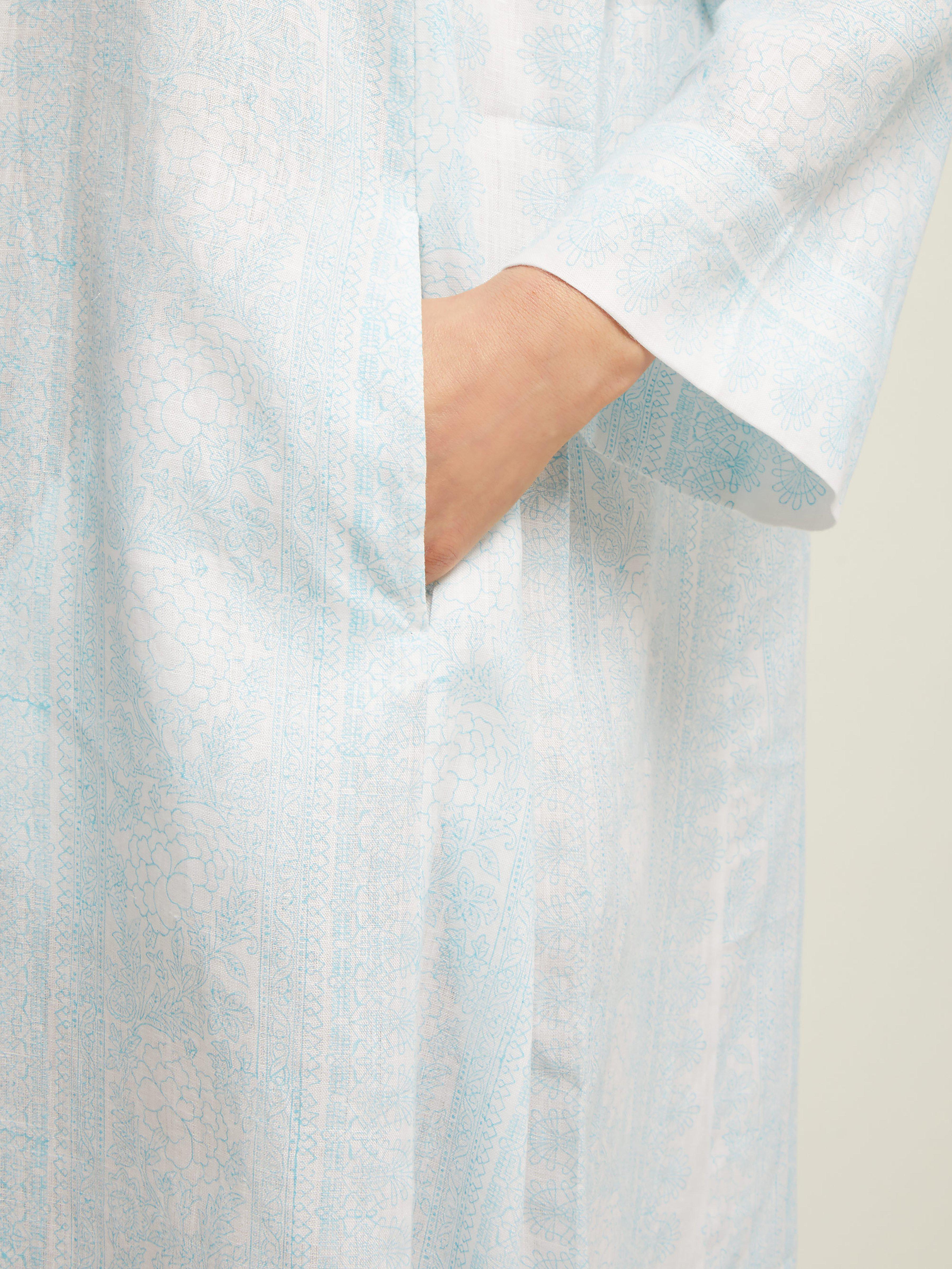 bb170766f1 Thierry Colson - Blue Talitha Printed Linen Kaftan - Lyst. View fullscreen