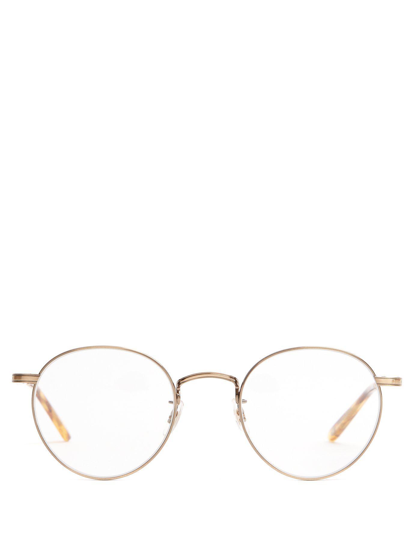 b9750ed21a4 Lyst - Garrett Leight Wilson 49 Round Frame Glasses in Metallic for Men
