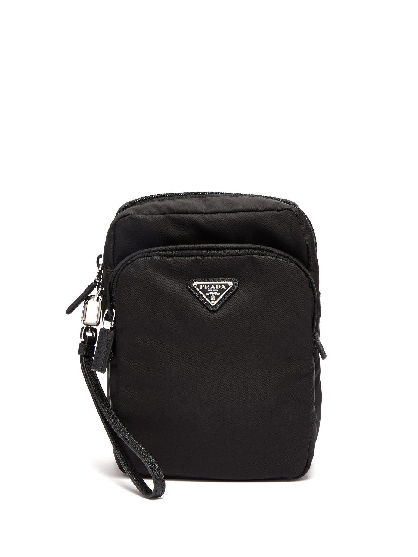 ... discount code for prada black nylon camera bag for men lyst. view  fullscreen 76b4d 75369 4c75d1122afa5