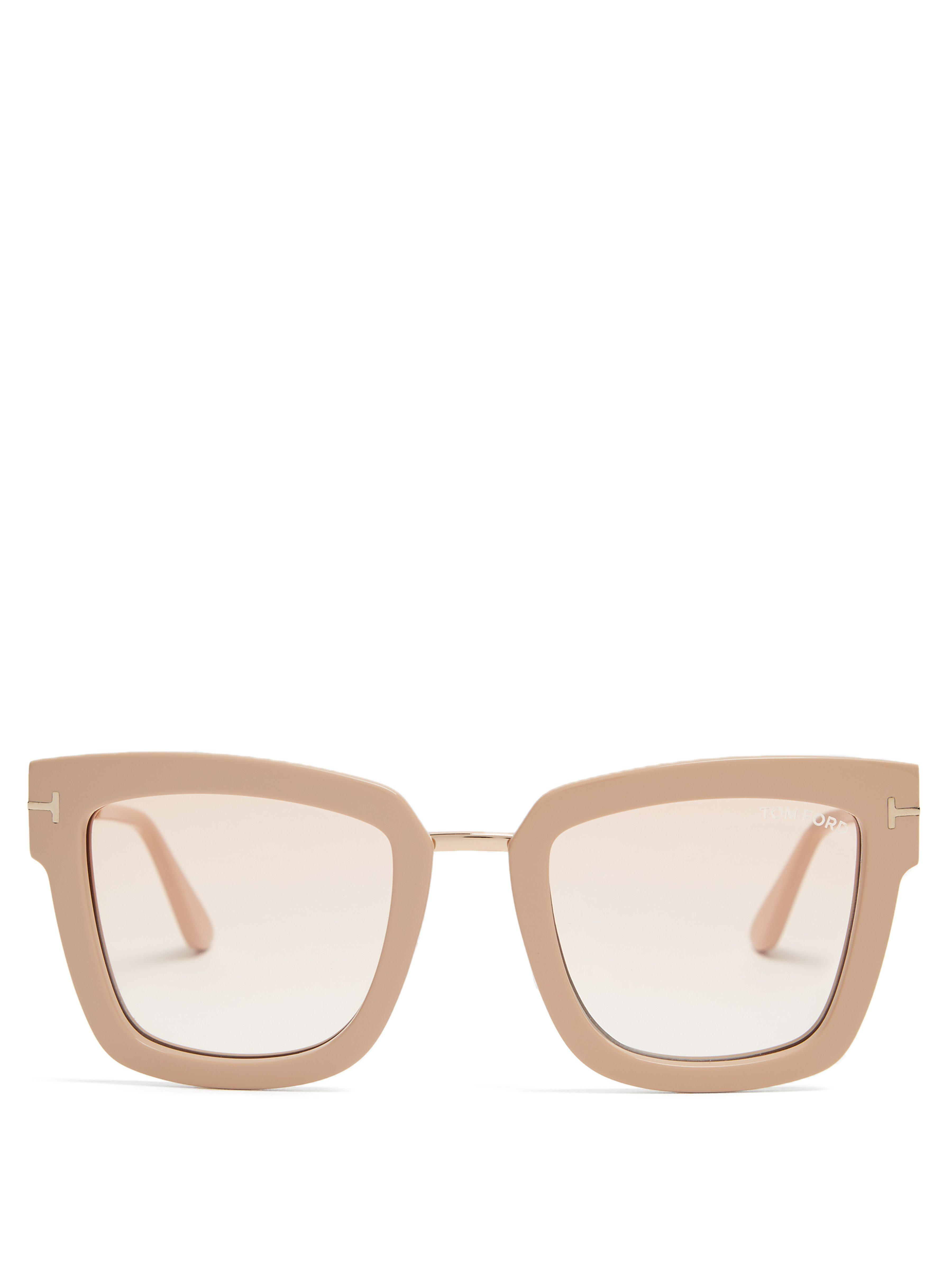 1bb7493cdb53 Tom Ford Lara Square-frame Sunglasses in Natural - Lyst