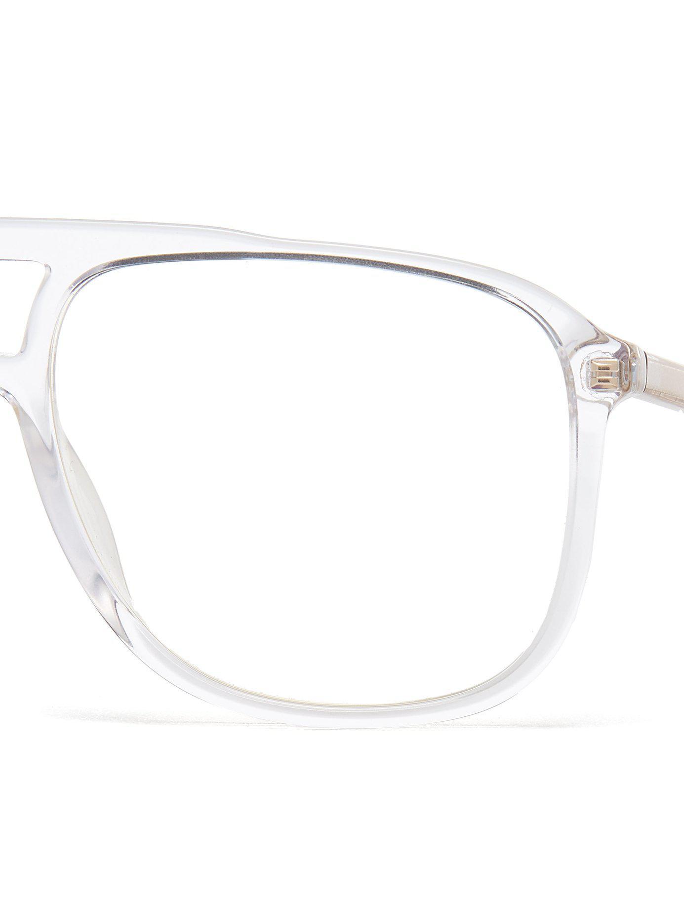 lyst gucci squared aviator acetate optical glasses for men Jupiter with Glasses view fullscreen