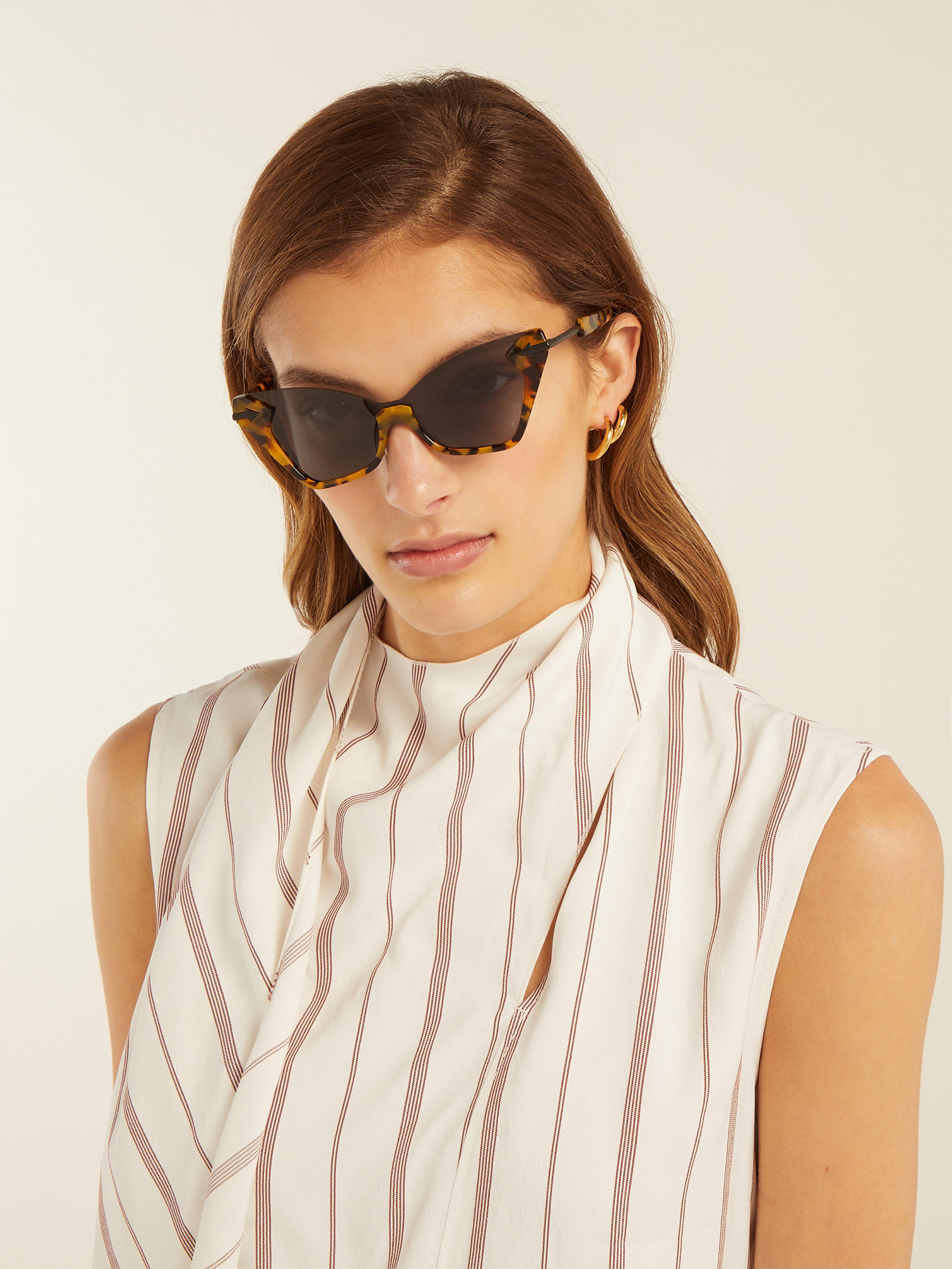 7b2c2550e2 Karen Walker Sweet Tortoiseshell Cat Eye Sunglasses - Lyst